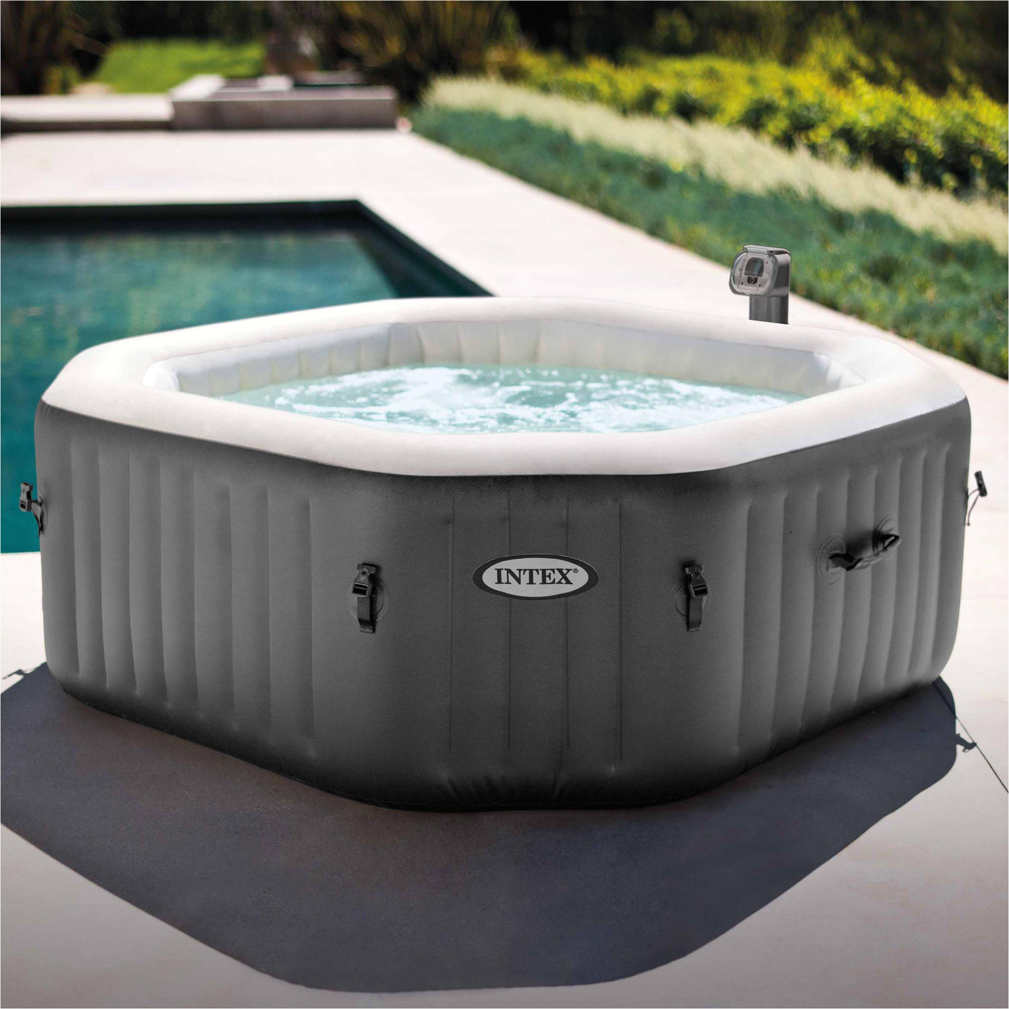 Hot Tub Designs and Layouts Intex 120 Bubble Jets 4 Person Octagonal Portable Inflatable Hot Tub