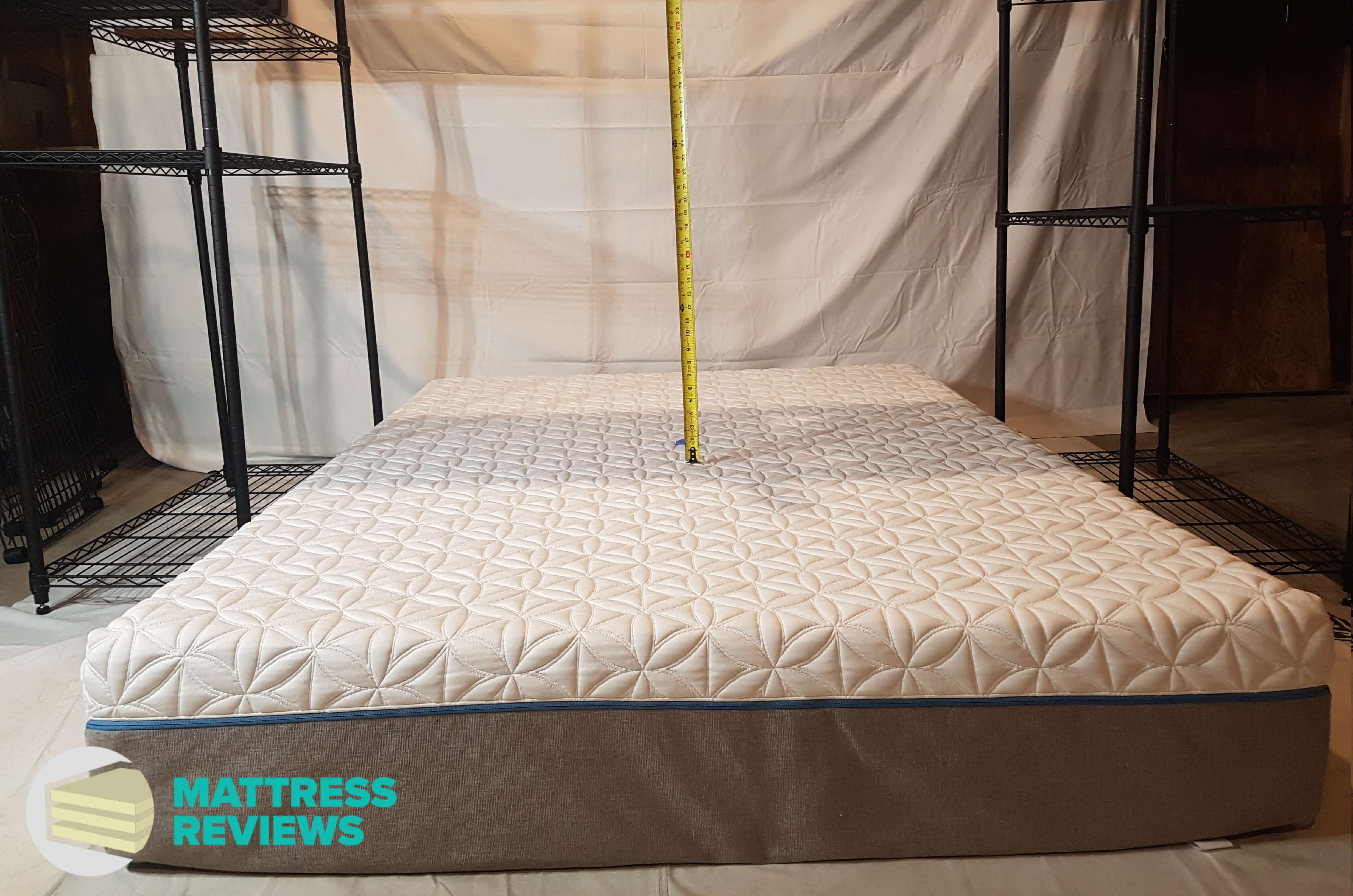 image of the tempurpedic cloud supreme mattress bounce test