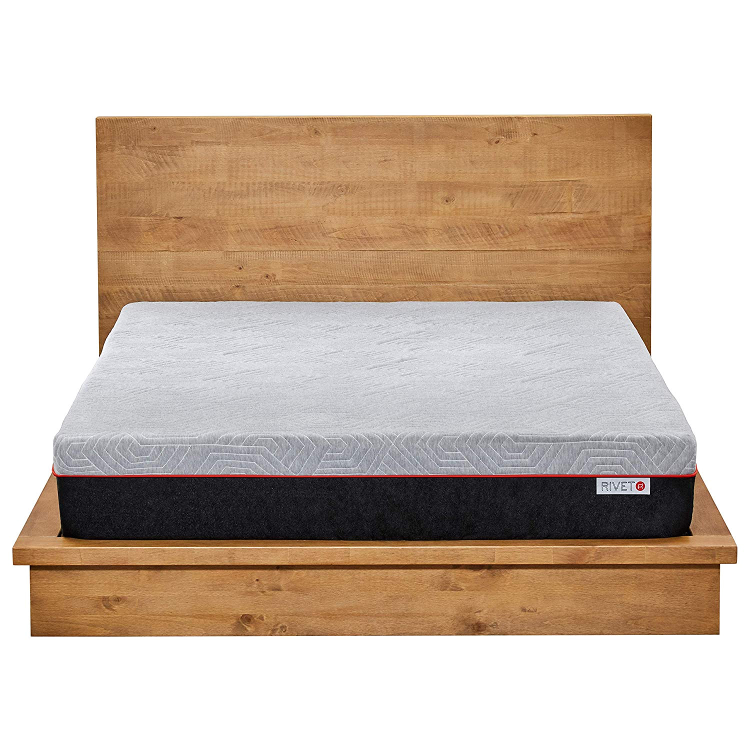 amazon com rivet full mattress celliant cover responsive 3 layer memory foam for support and better overnight recovery bed in a box 100 night trial