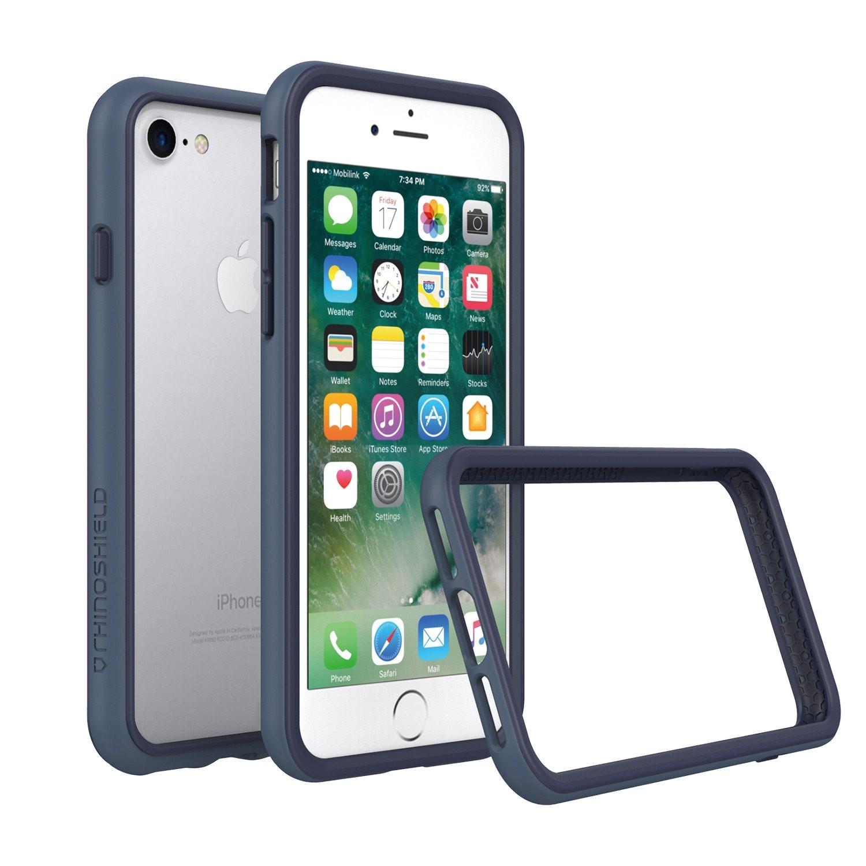 amazon com rhinoshield bumper case for iphone 8 iphone 7 not plus crashguard shock absorbent slim design protective cover 3 5 m 11ft drop