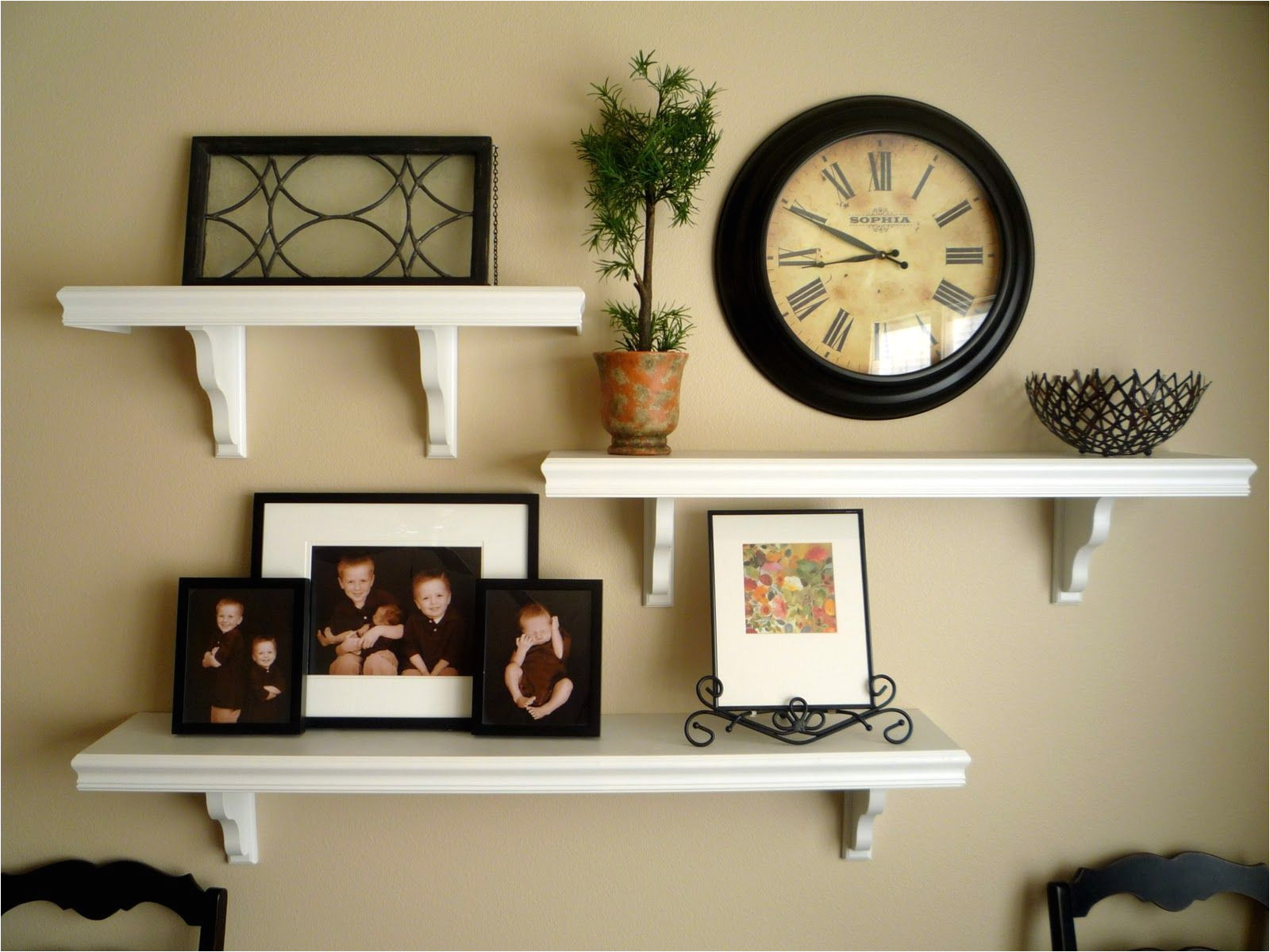 How to Decorate A Half Wall Ledge Picture and Shelves On Wall together It All Started after Being