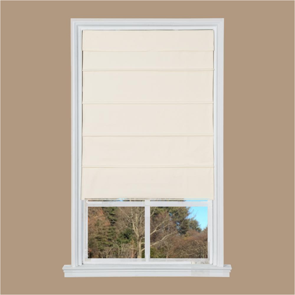 How to Lower Cordless Levolor Blinds Room Darkening Cordless Roman Shades Shades the Home Depot