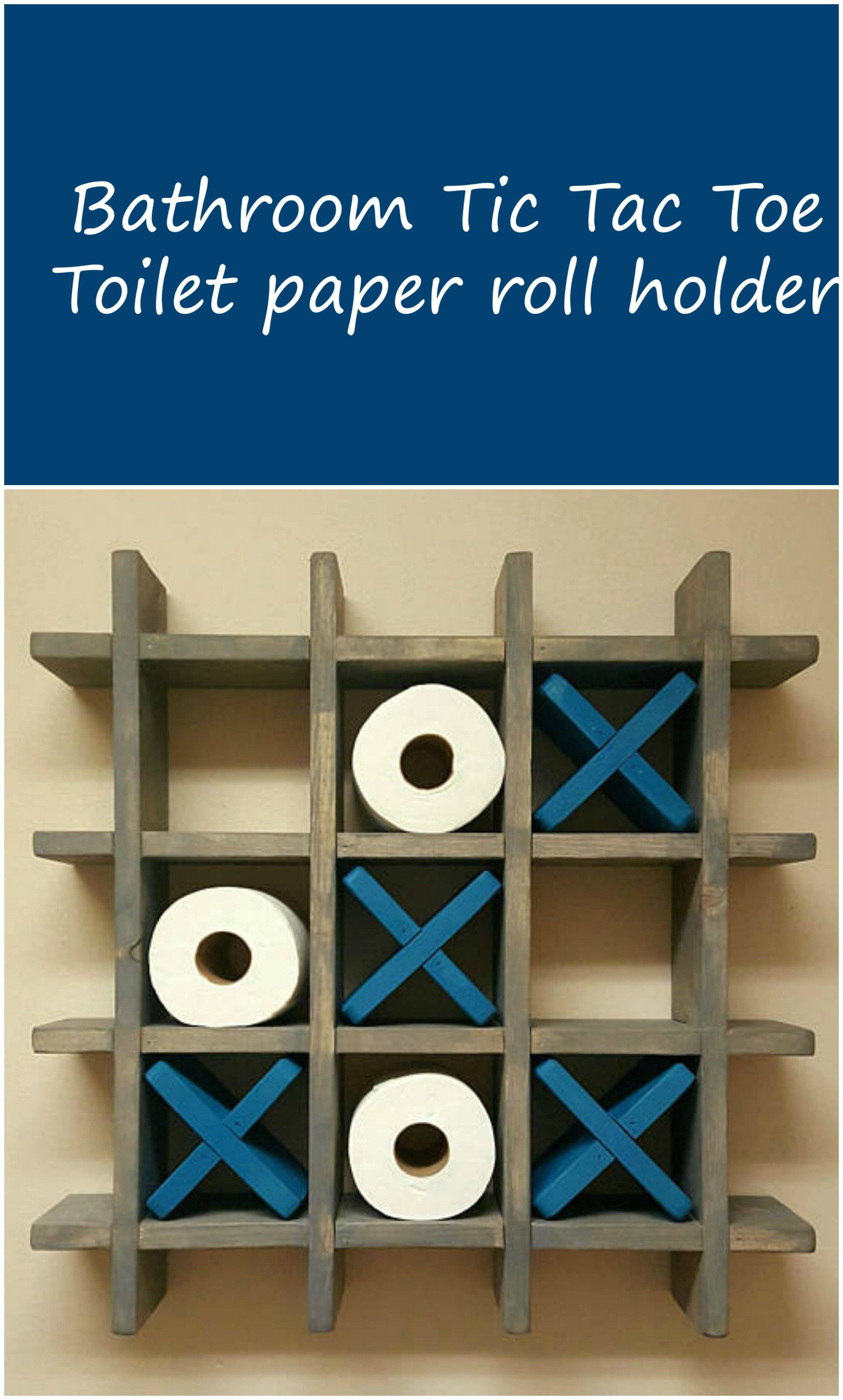 bathroom tic tac toe game made to order toilet paper roll holder