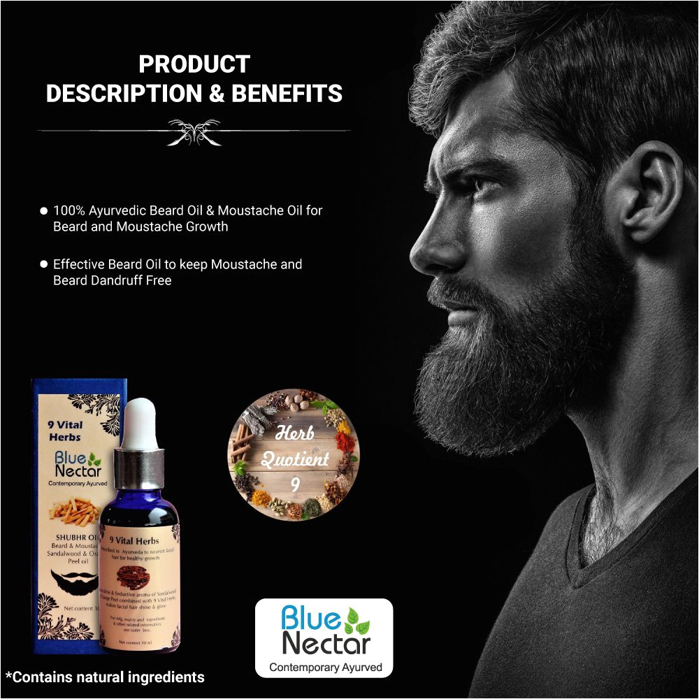 blue nectar ayurvedic beard and moustache growth oil 30 ml amazon in health personal care