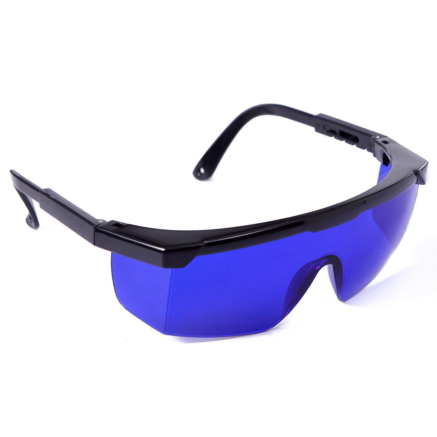 hde laser eye protection safety glasses for red and uv lasers with case blue amazon com