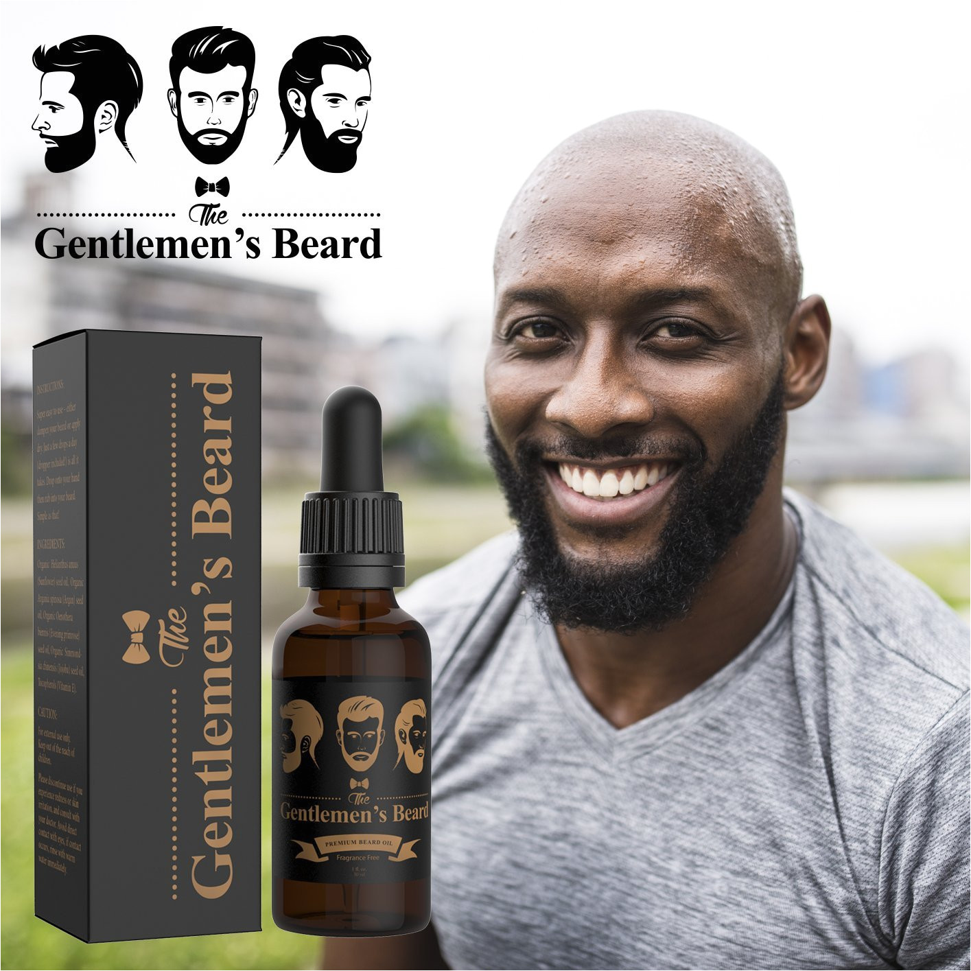 amazon com the gentlemen s beard premium beard oil leave in conditioner softener fragrance free beauty