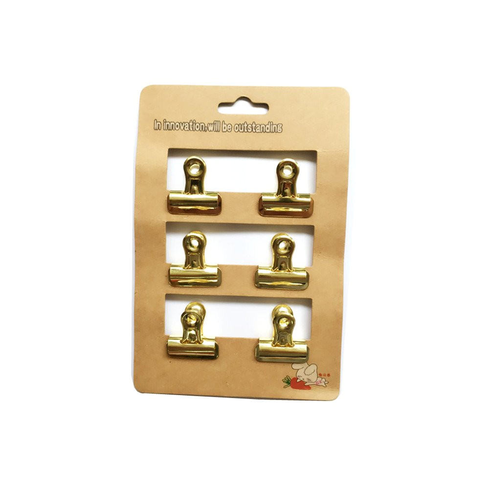 amazon com metan heavy duty bulldog clip 1 inch duckbill clips mini clothes pins retro style for office bills or home wall prints gold office products