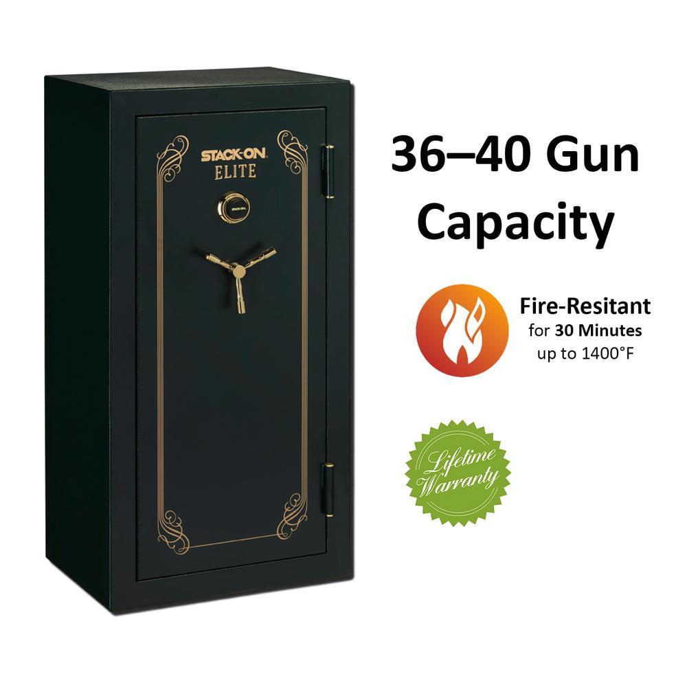 40 gun fire resistant combination lock safe matte green