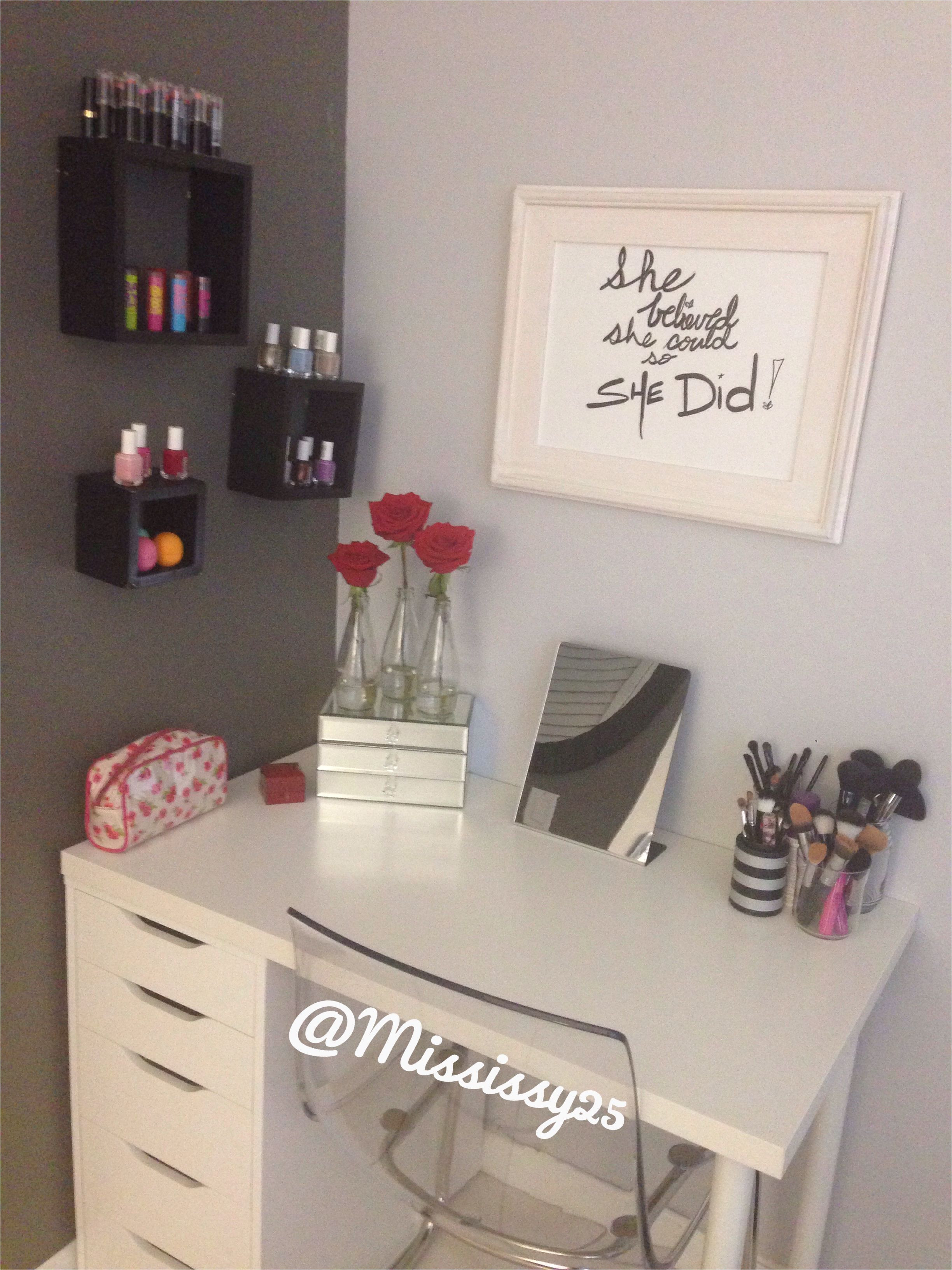 ikea diy vanity alex drawers tabletop and legs minimalist white design efficient