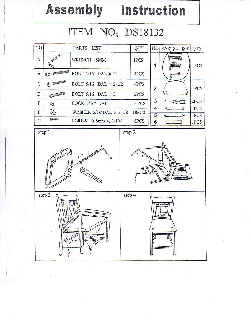 susan dining chair assemble instruction a alinia item alinia dining chair 107661 a anne item anne dining chair a catalina item catalina chair