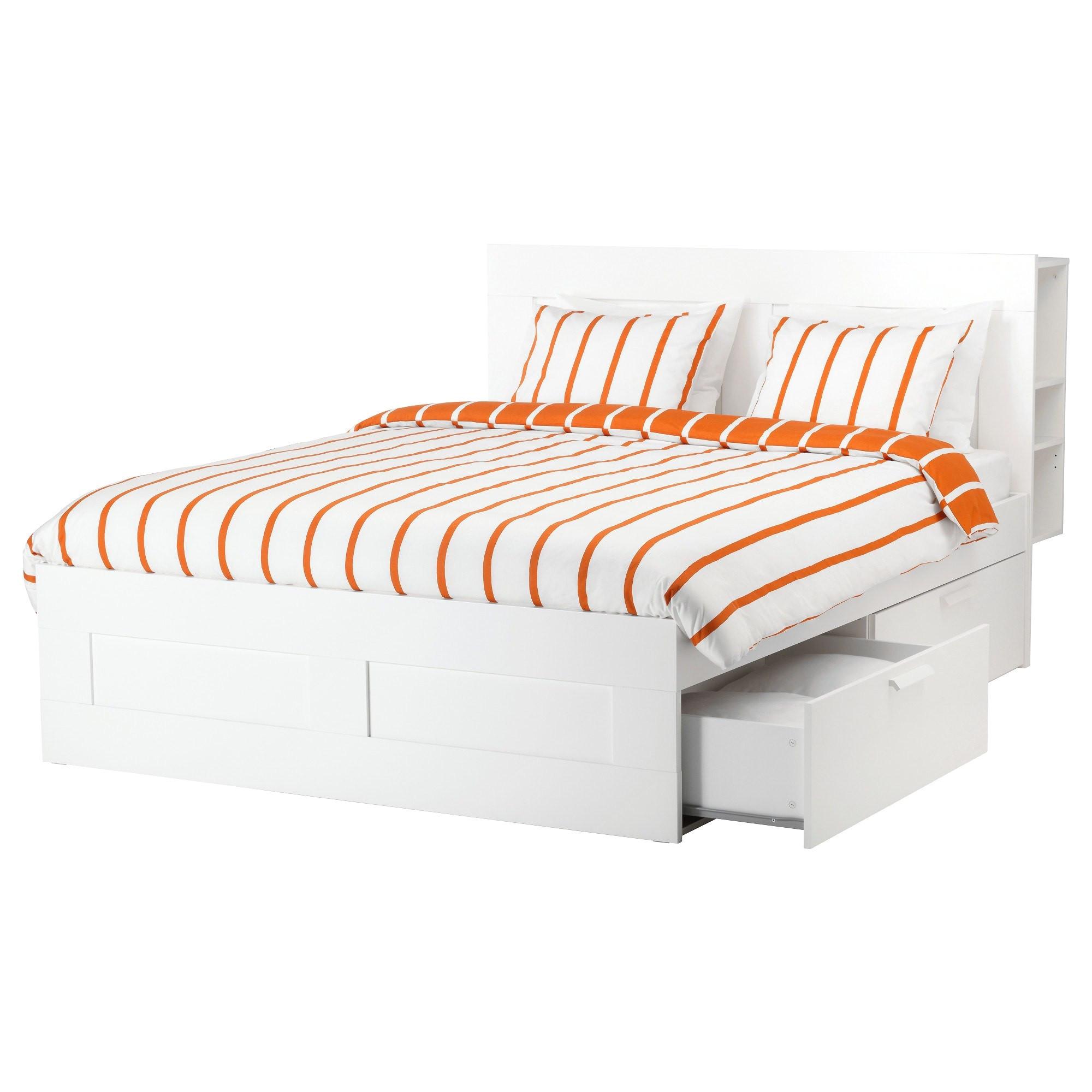 brimnes bed frame with storage 160200 cm ikea in ikea brimnes