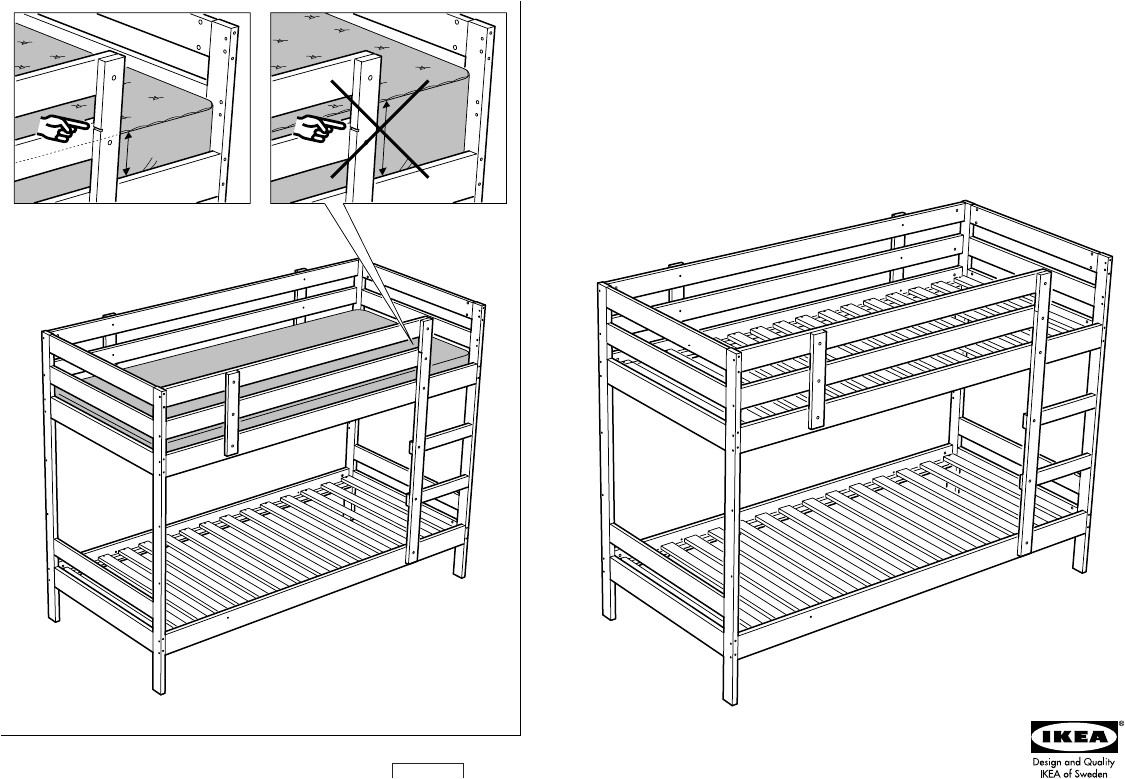 ikea mydal bunk bed frame twin assembly instruction free pdf