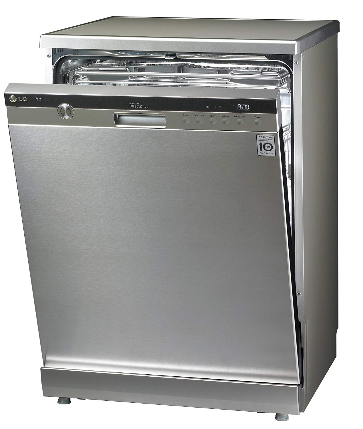 lg d1454tf 14 place setting steam direct drive dishwasher stainless steel amazon co uk large appliances