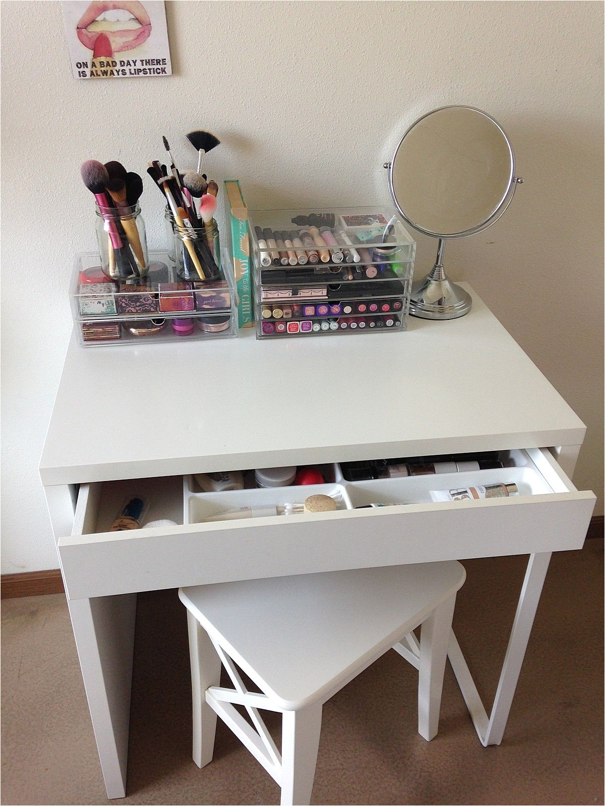 everyday makeup organization ikea micke desk ikea