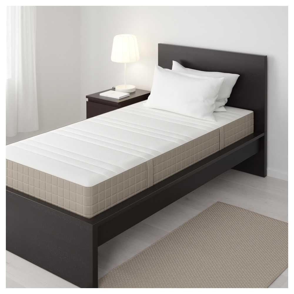 haugesund spring mattress full medium firm dark beige ikea