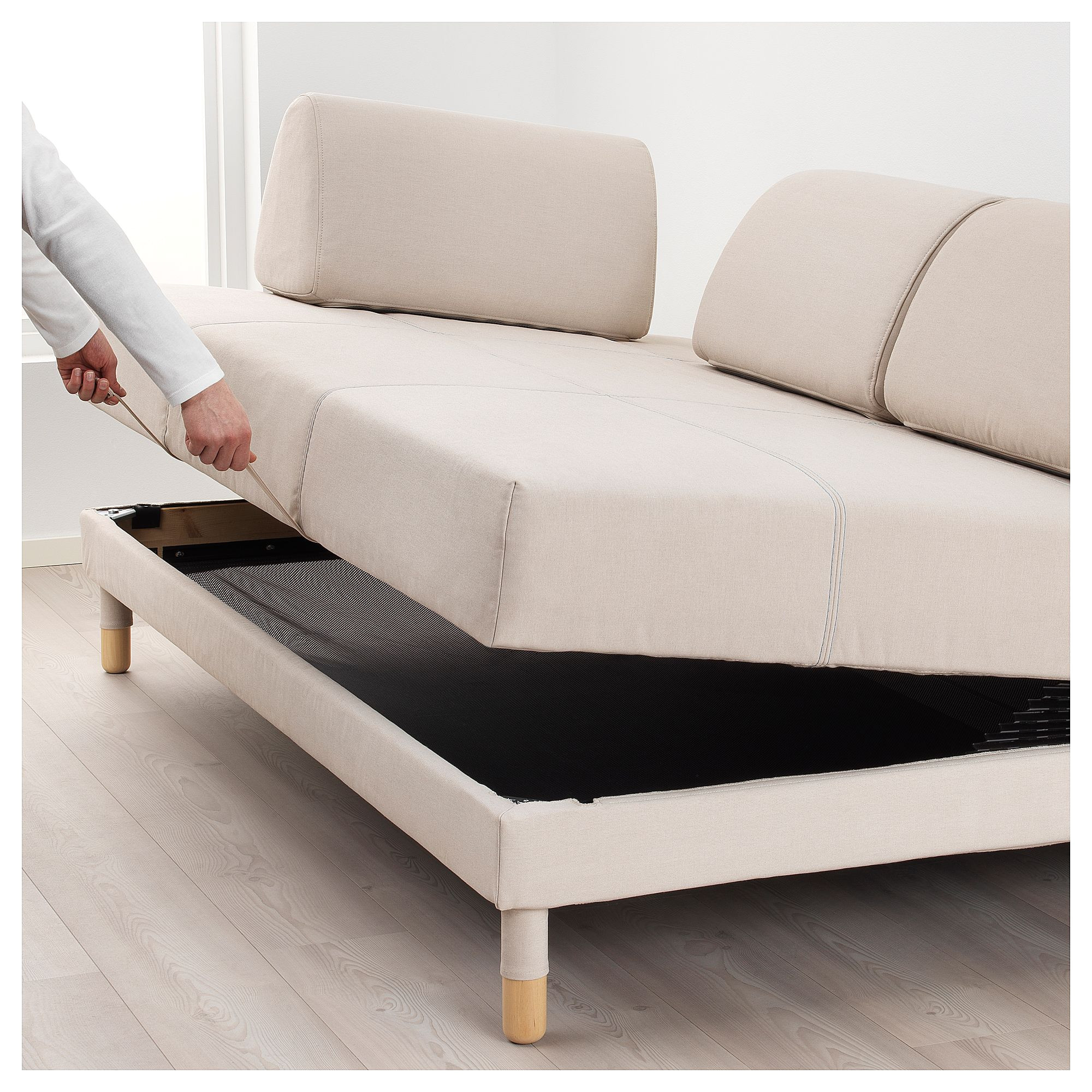ikea flottebo sofa bed lofallet beige