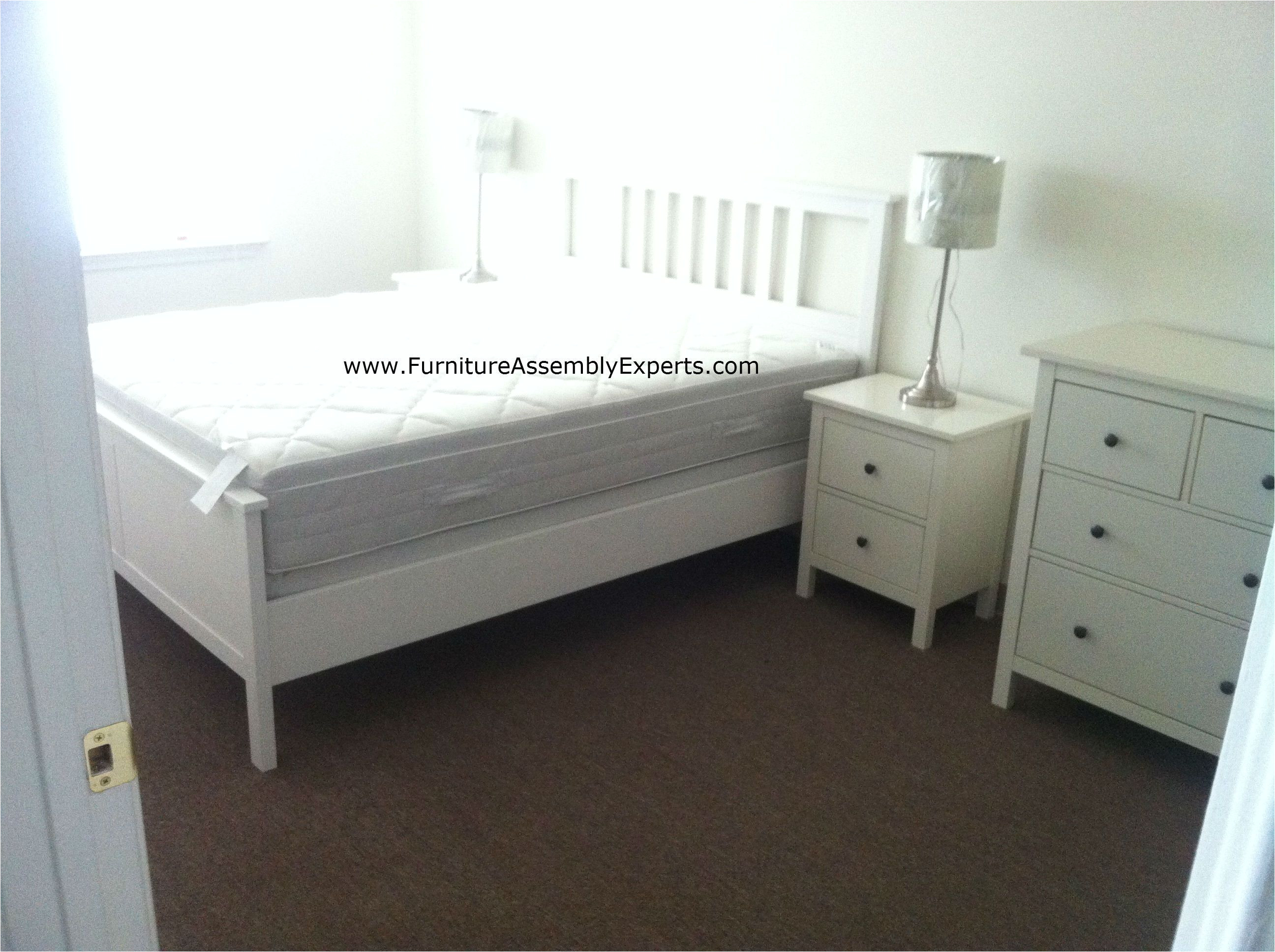 ikea hemnes bed and night stand assembled for a john hopkins university college student moving in baltimore md by furniture assembly experts llc
