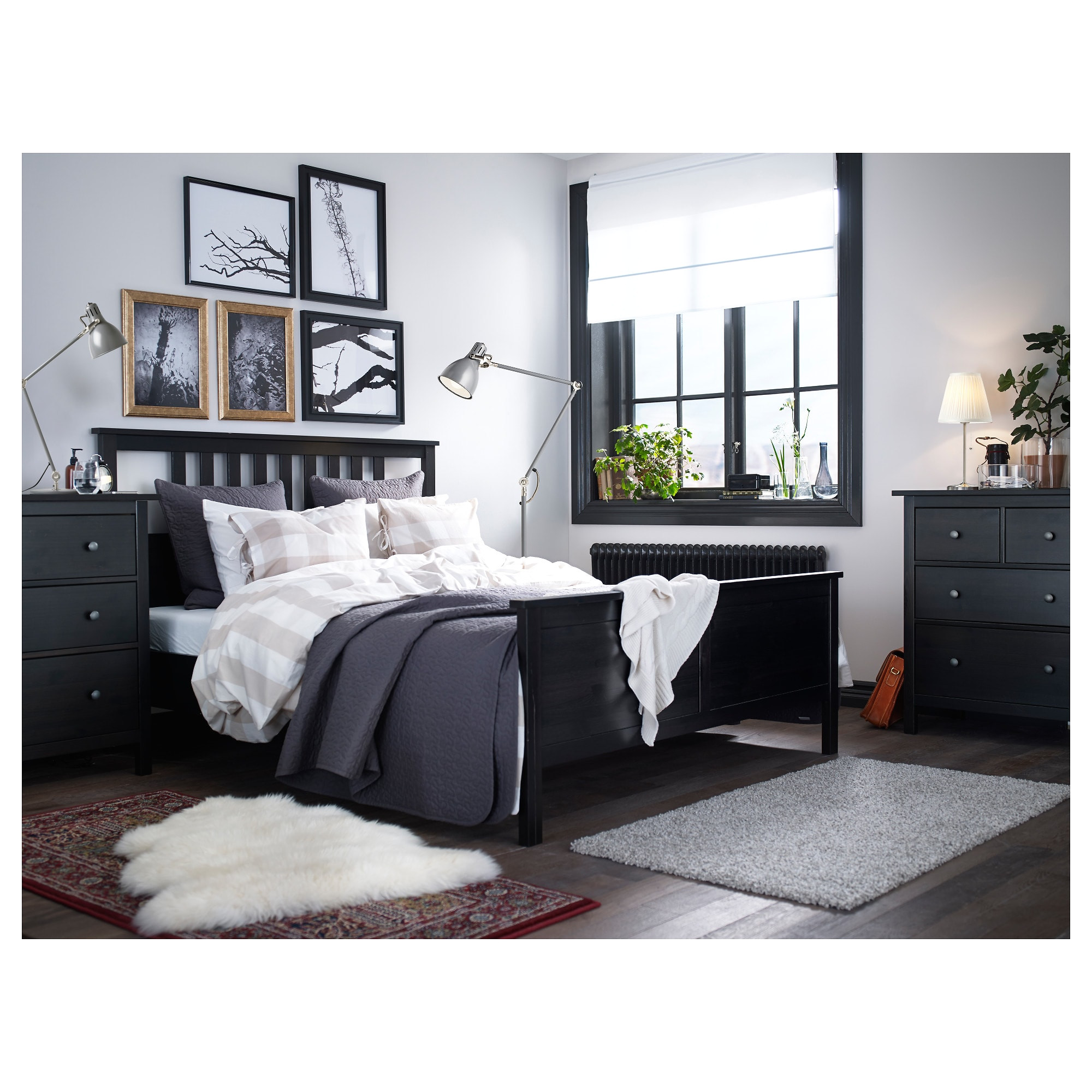 Ikea Malm Storage Bed Review Hemnes Bed Frame Queen Black Brown Ikea