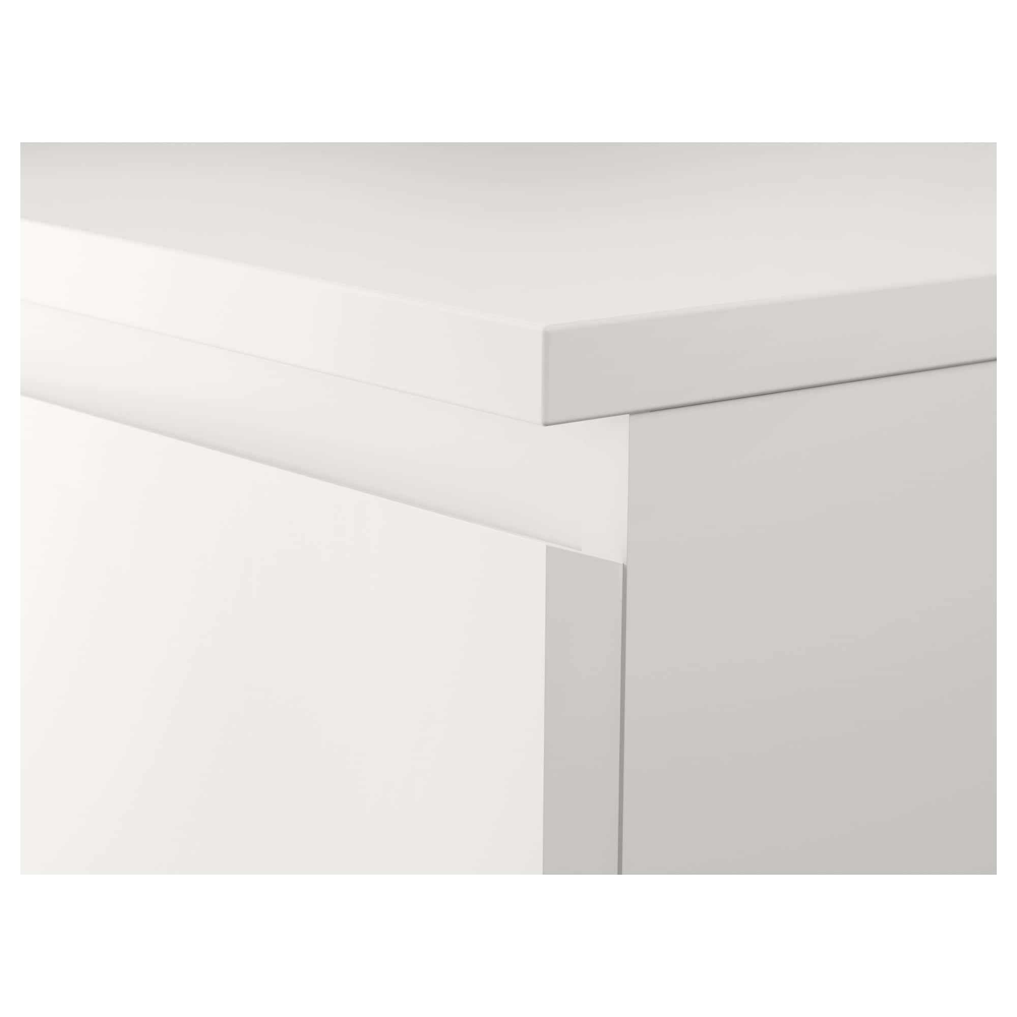 ikea malm chest of 3 drawers smooth running drawers with pull out stop