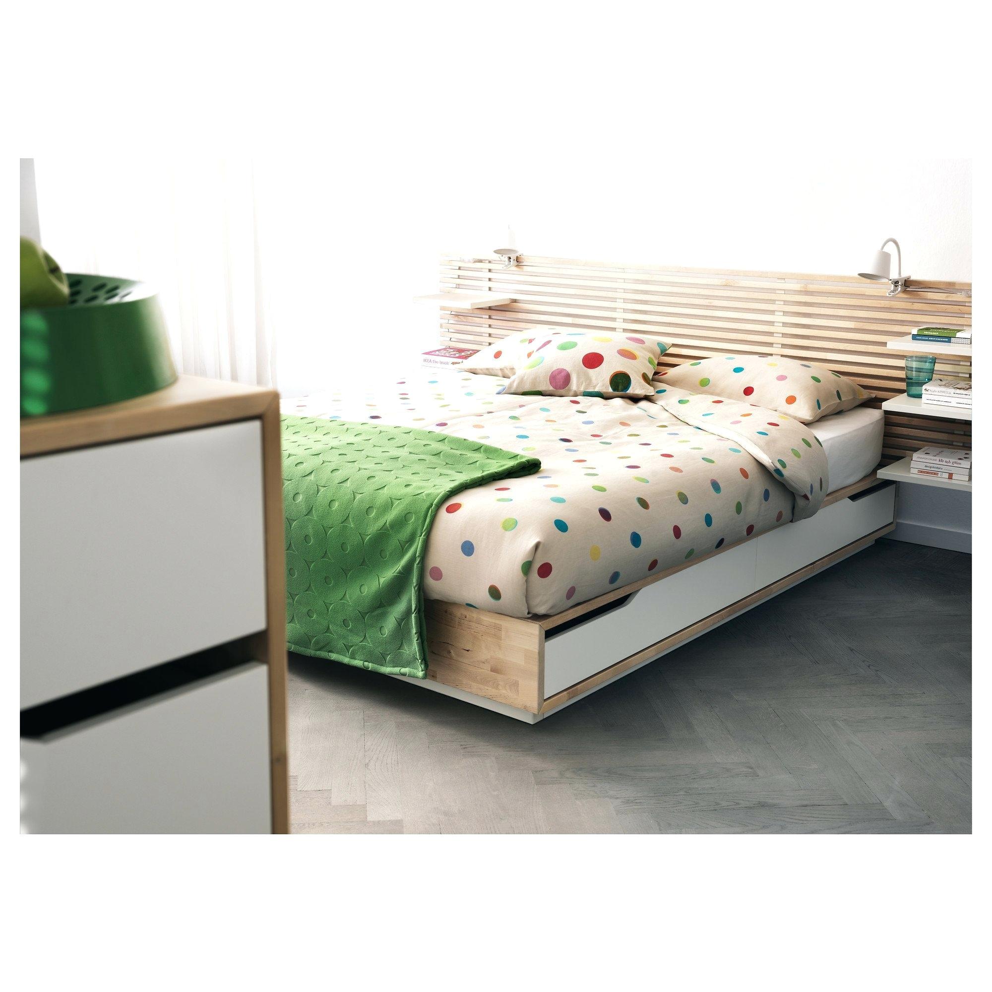 mandal ikea used bed frame with storage birch white bett mandal bett full double review testiera usata
