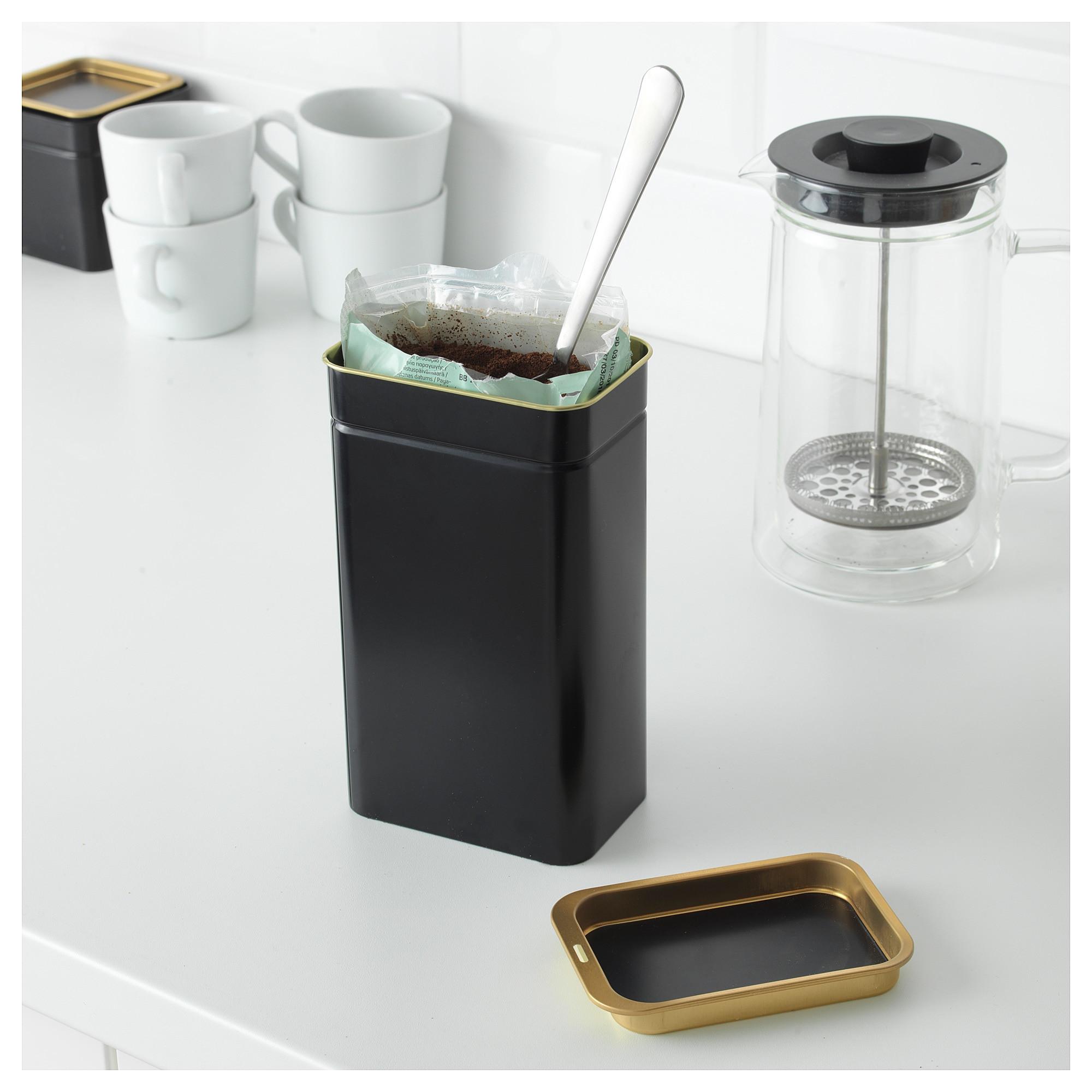 ikea blomning coffee tea tin