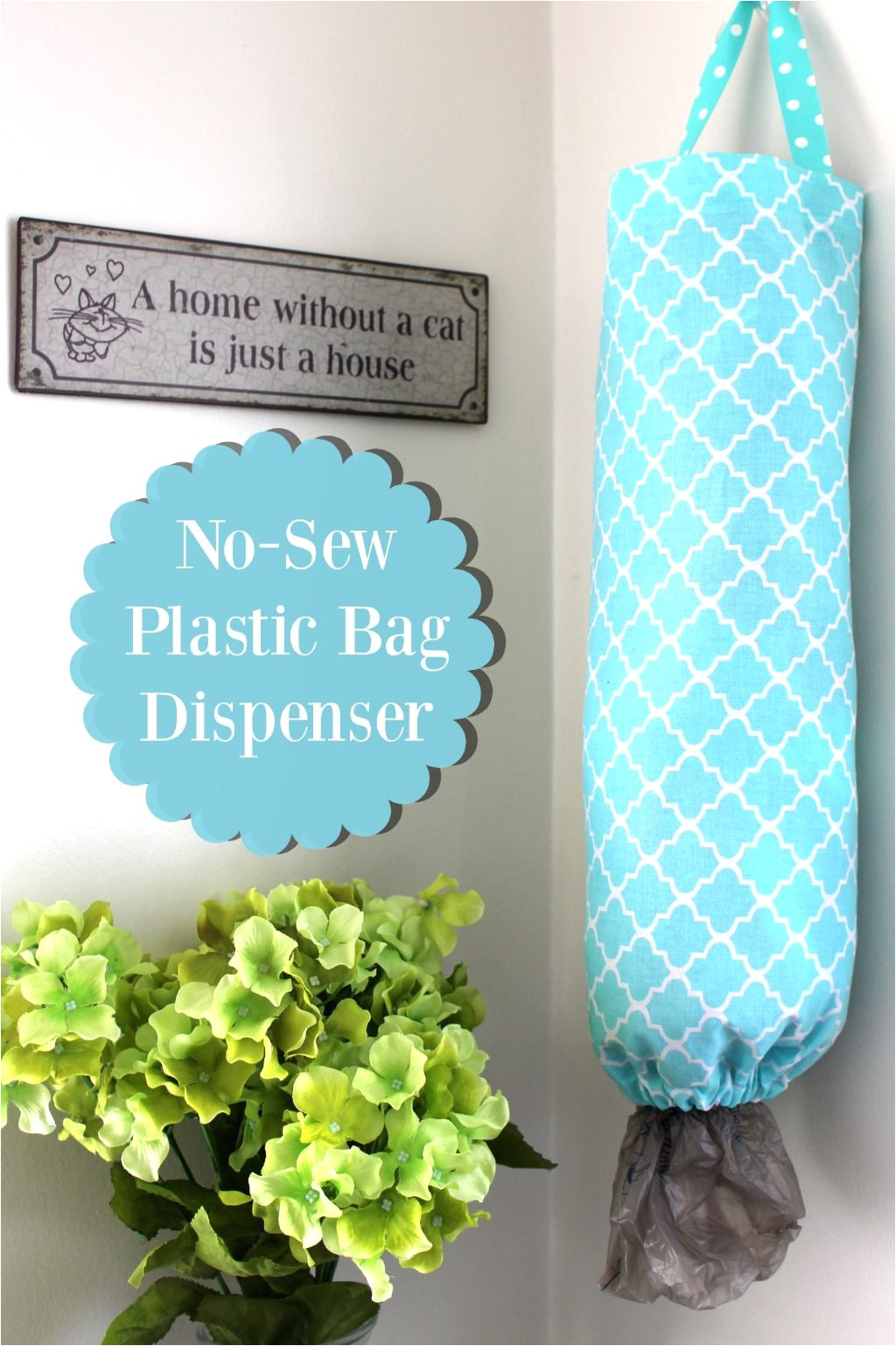 learn how to make your own diy no sew plastic bag dispenser on the blog