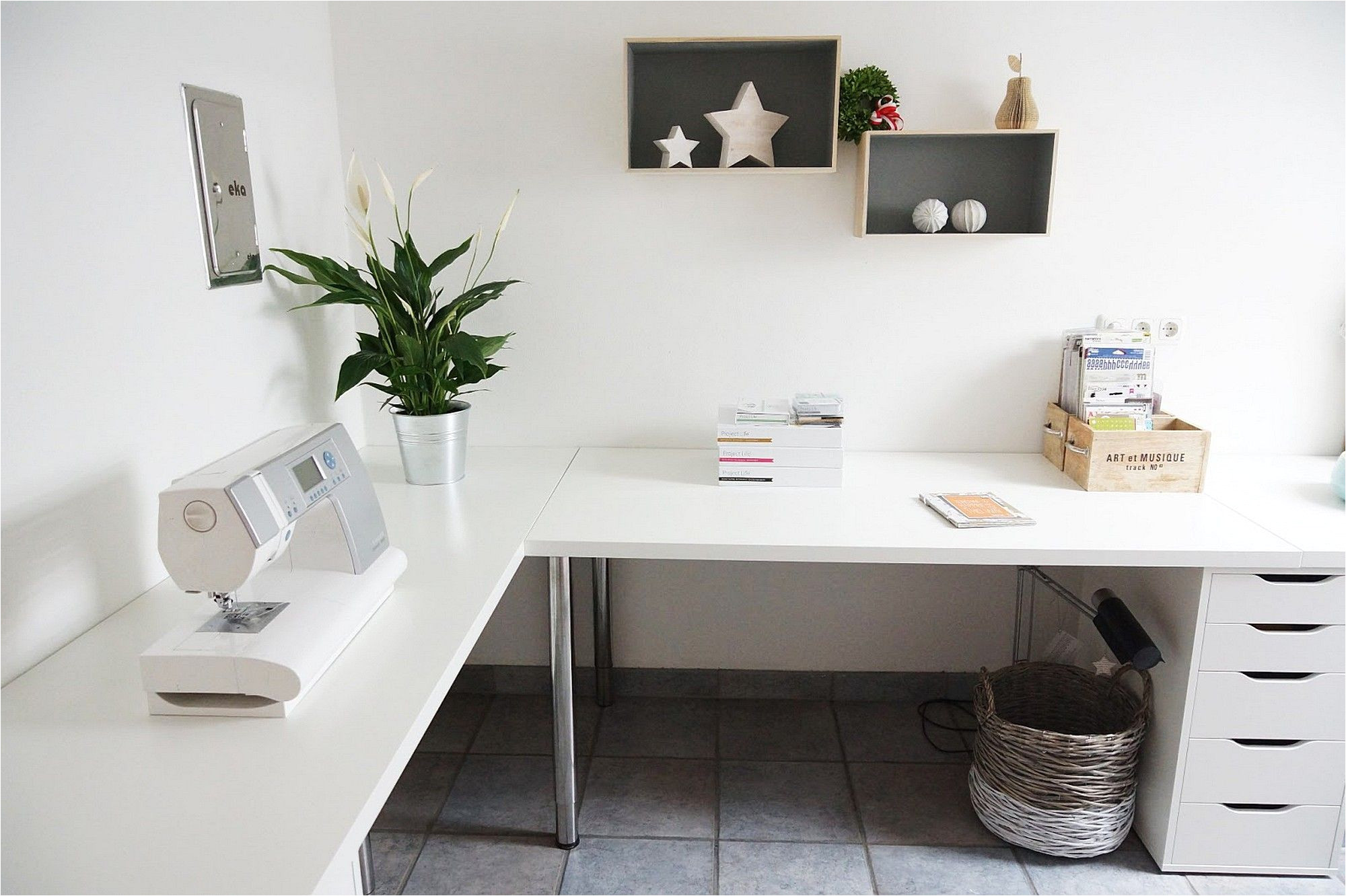 minimalist corner desk setup ikea linnmon desk top with adils legs and alex