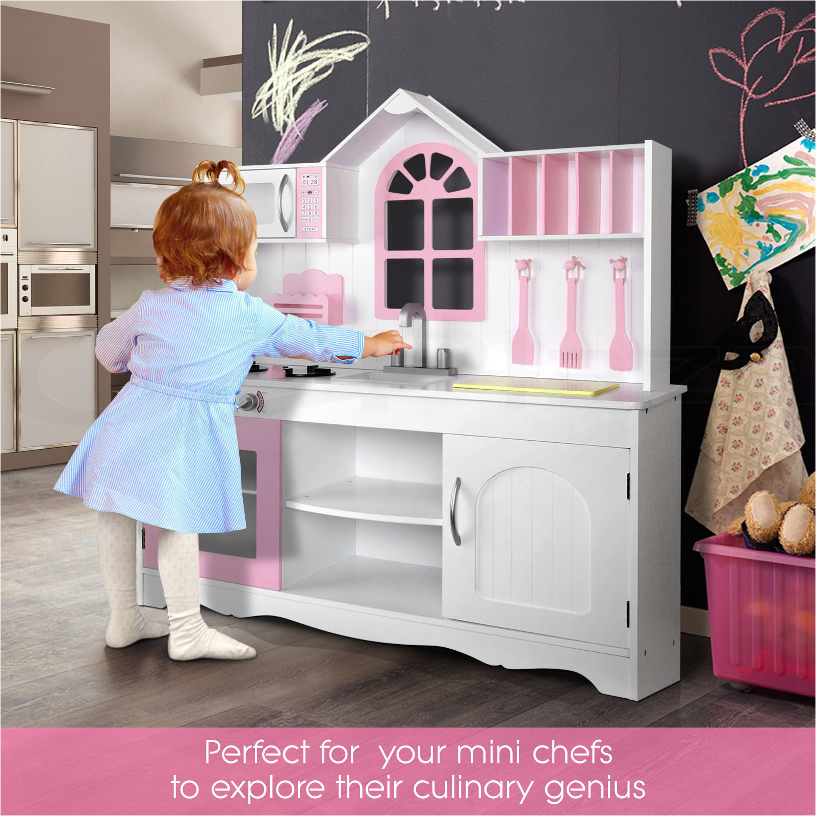 charming imaginarium all in one wooden kitchen set and toy wood kitchen