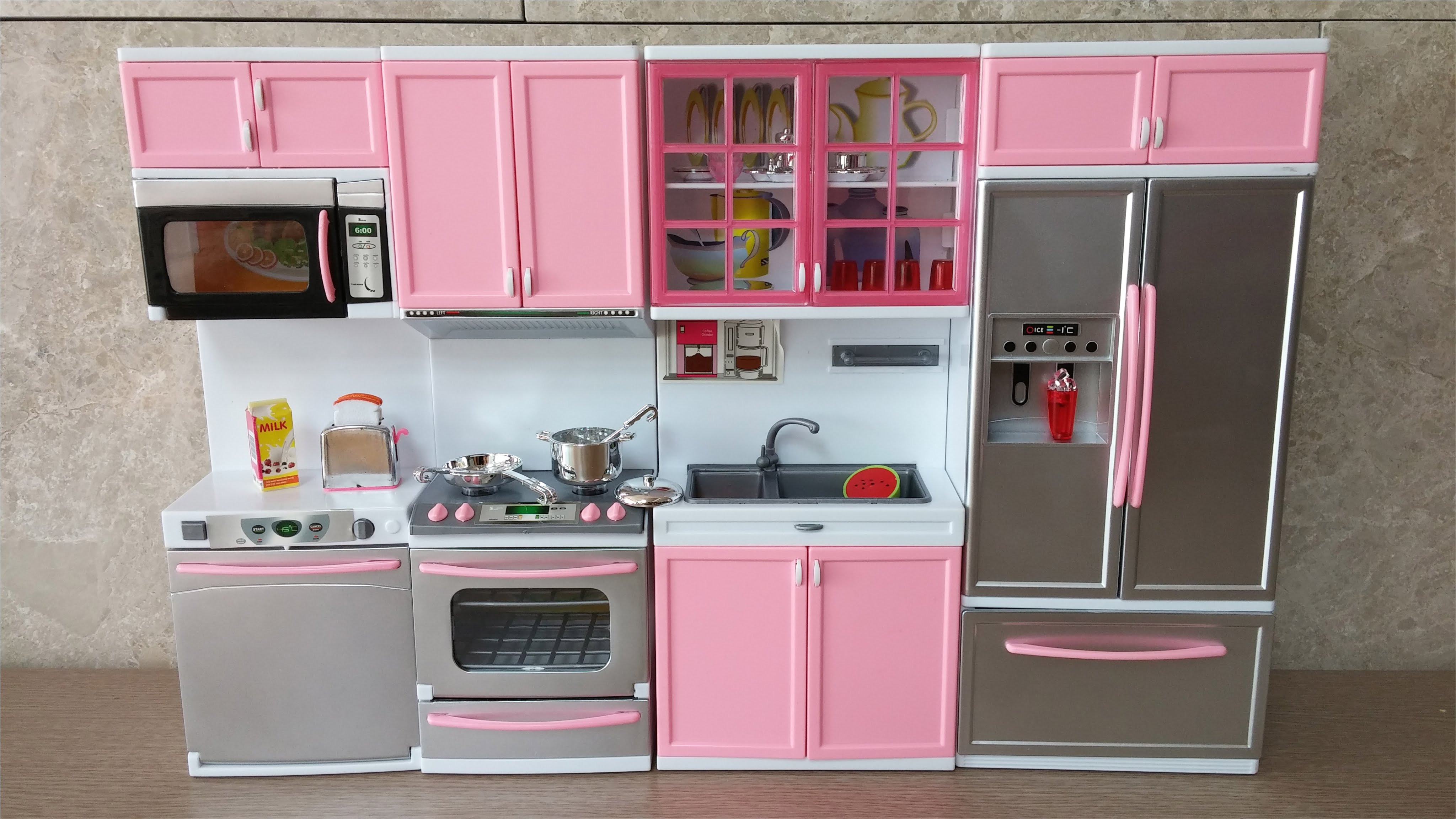 outstanding imaginarium all in one wooden kitchen set with unboxing new barbie kitchen set deluxe modern