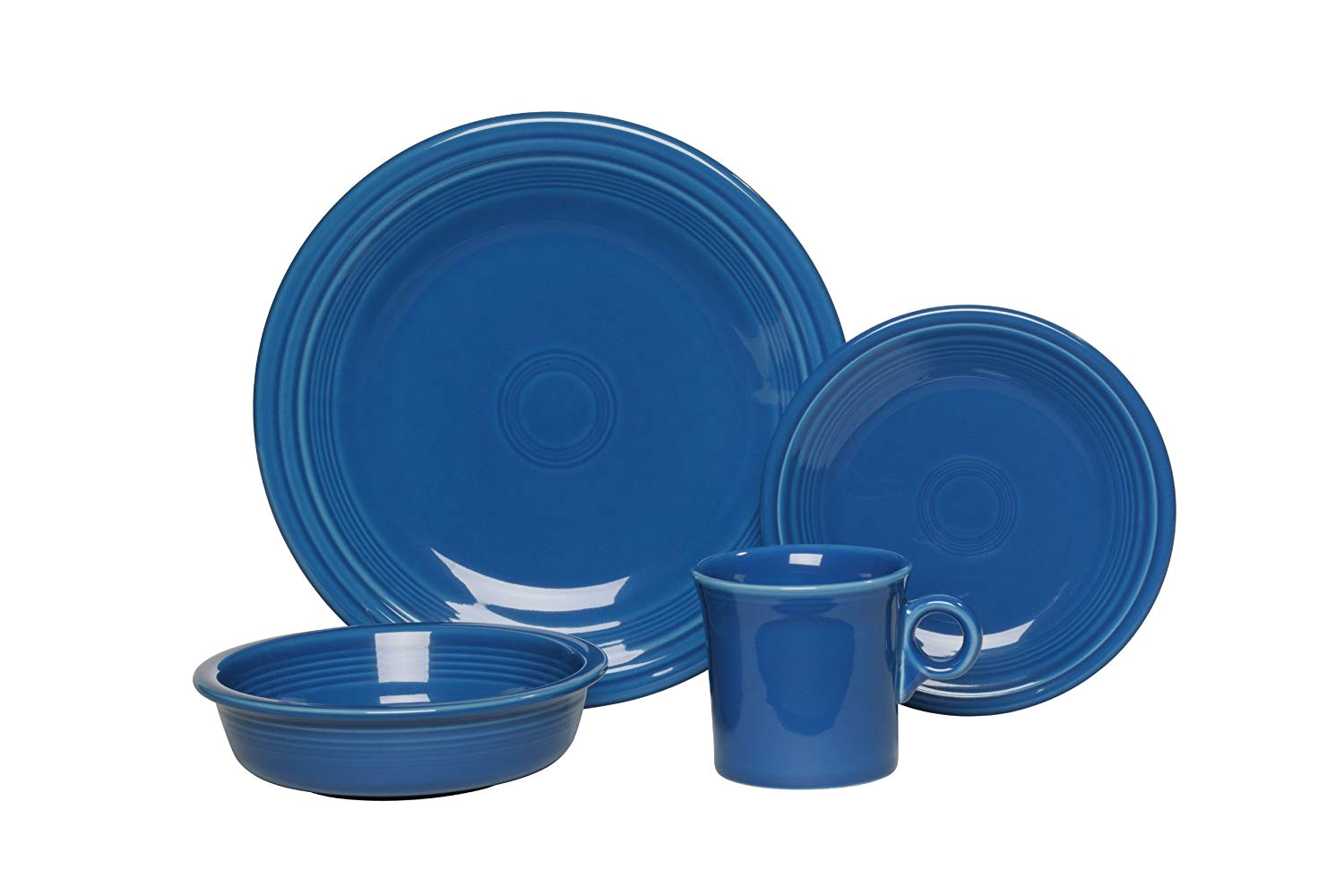 amazon com fiesta 4 piece place setting lapis dinnerware sets dinnerware sets