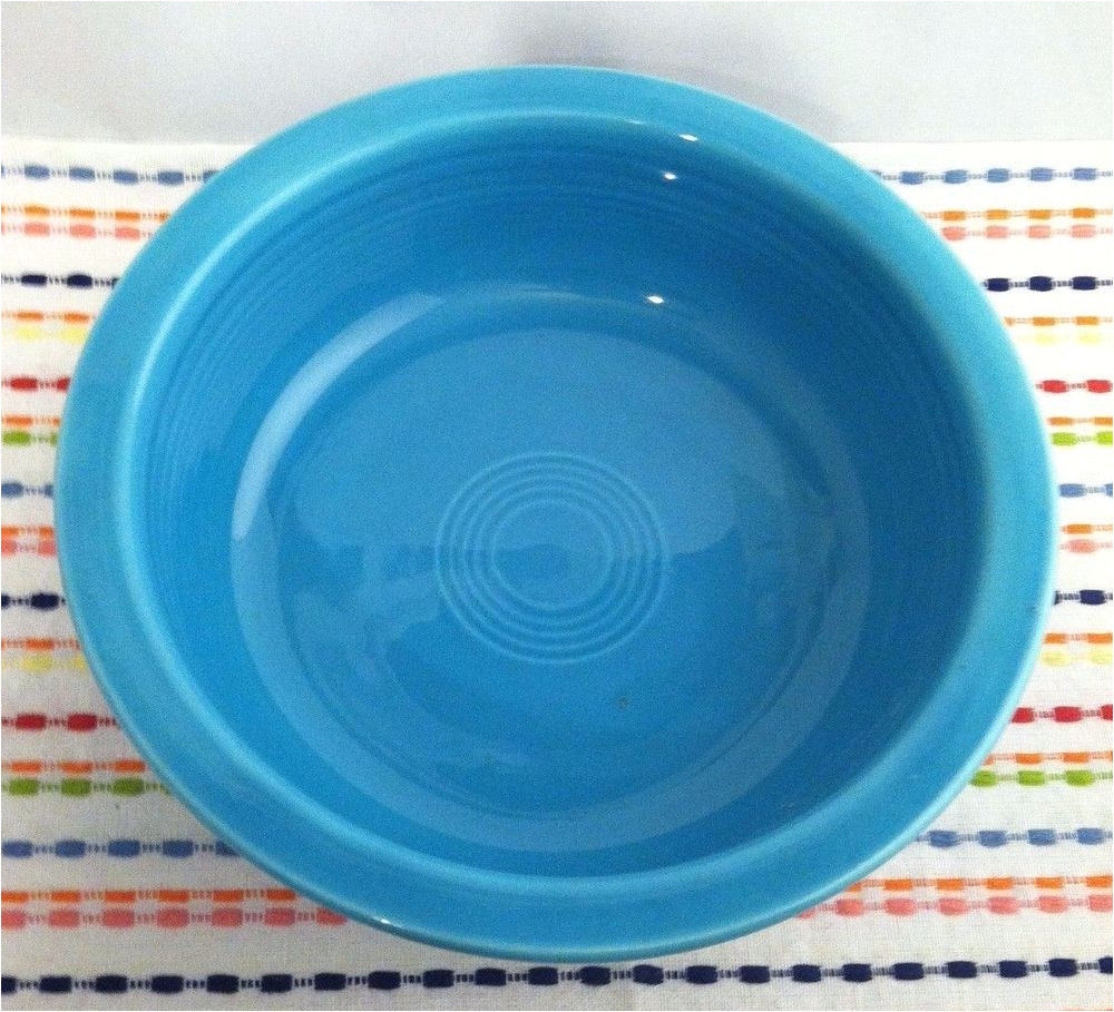 vintage fiestaware turquoise serving bowl fiesta hlc 8 5 nappy nappie bowl fiestaware
