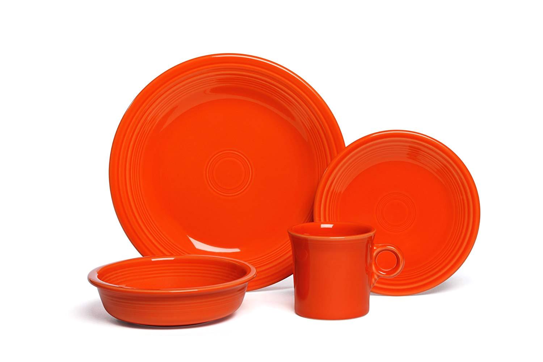 amazon com fiesta 4 piece place setting lapis dinnerware sets dinnerware sets