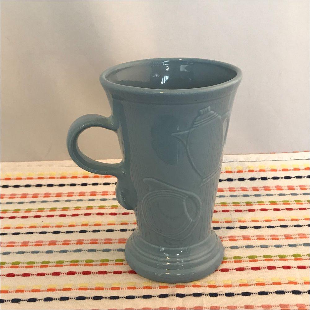 fiestaware periwinkle pedestal mug fiesta retired blue 18 oz footed mug pedestalmug fiesta fiestaware madeinusa