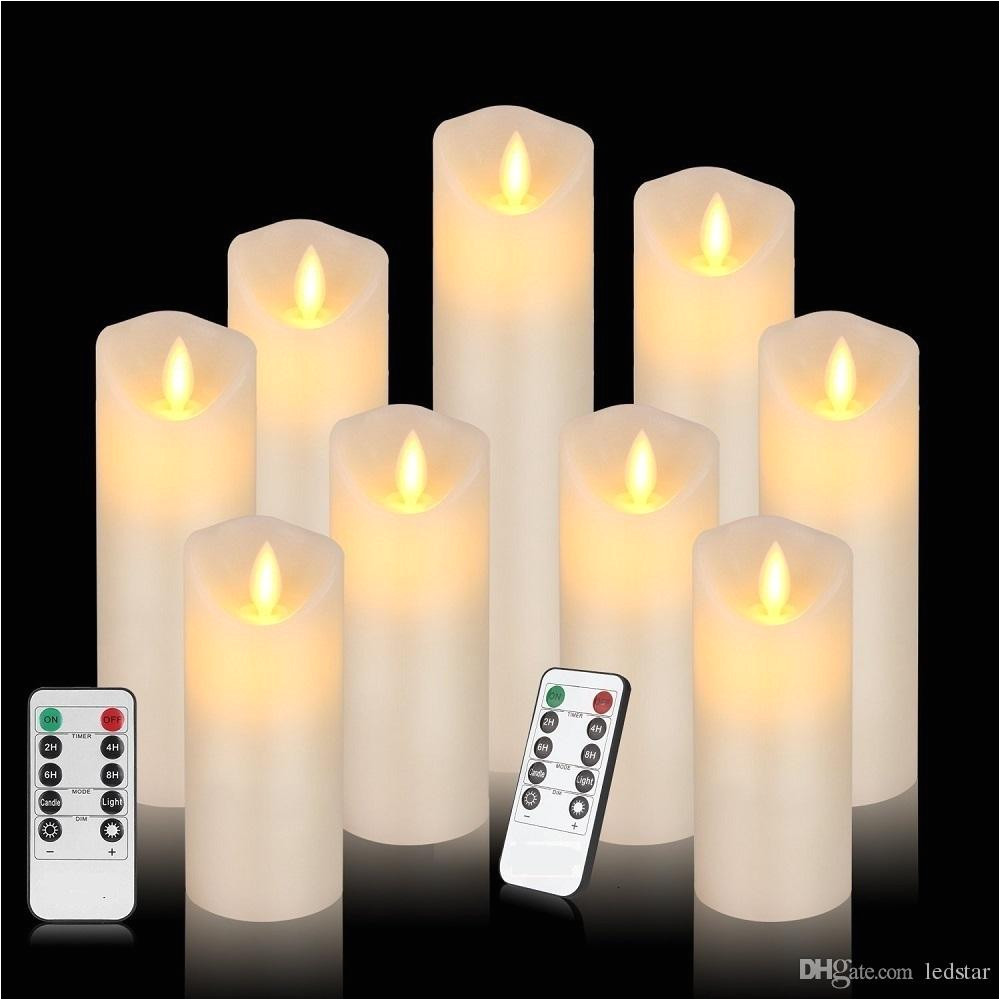 2019 flameless candles flickering battery operated candles 4 5 6 7 8 of 9 ivory classic real wax pillar with moving led flame from ledstar 28 88 dhgate