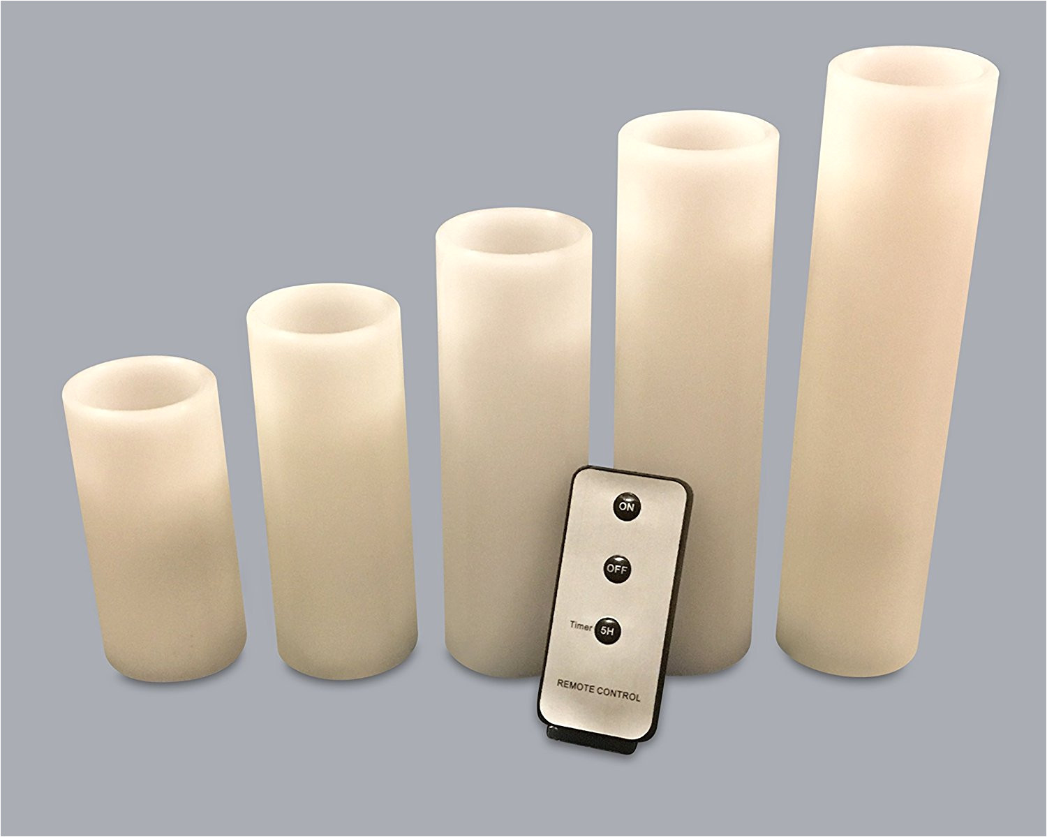 get quotations a flameless candles stunning set of 5 led pillar candles battery operated candles wax