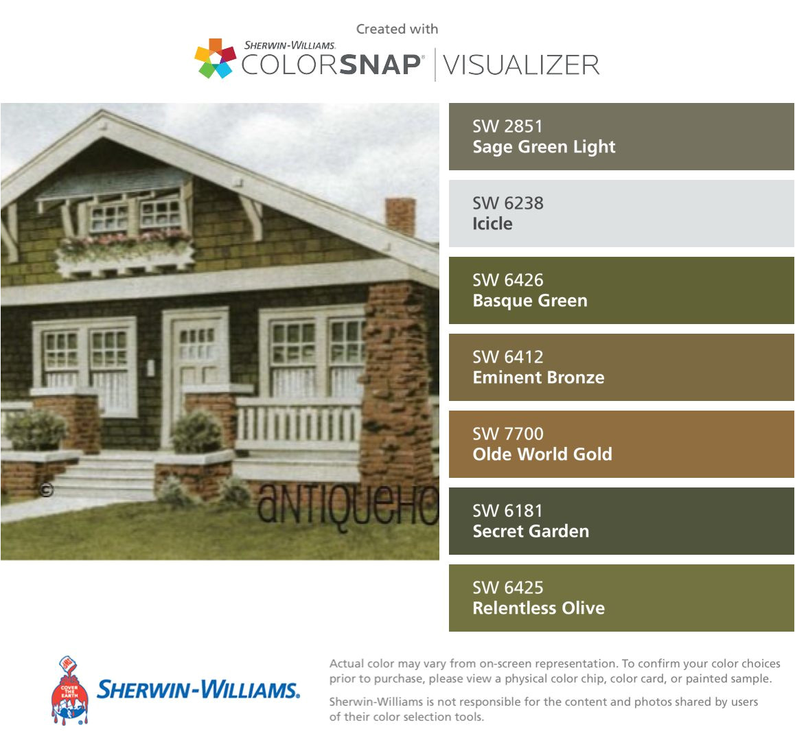 i found these colors with colorsnapa visualizer for iphone by sherwin williams sage green light sw 2851 icicle sw 6238 basque green sw 6426