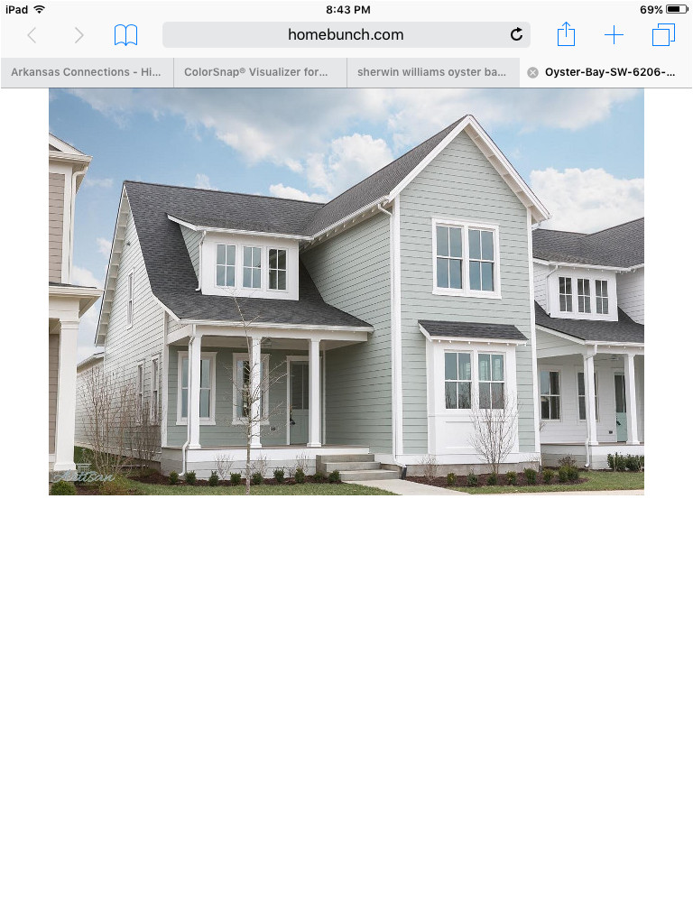 oyster bay sherwin williams exterior color