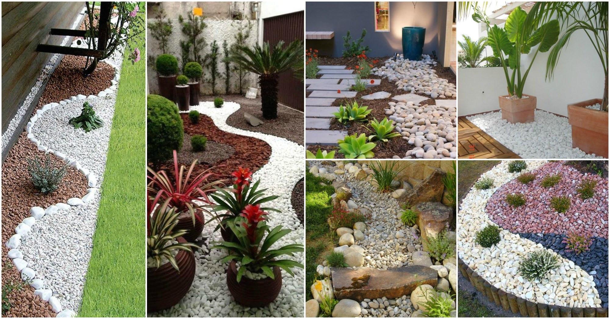 Jardines peque os para frentes de casas con piedras for Como decorar mi jardin con piedras y plantas