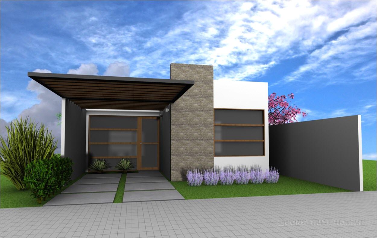 Jardines peque os para frentes de casas peque as casas de un piso construye hogar con casas de - Construye hogar ...