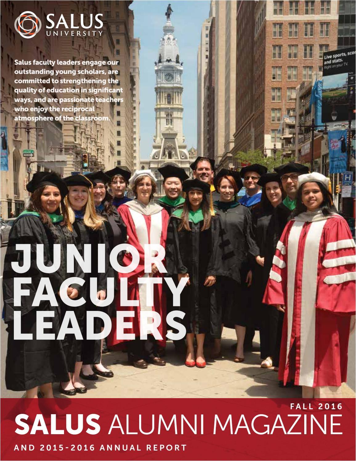 salus alumni magazine annual report fall 2016 by salus university issuu