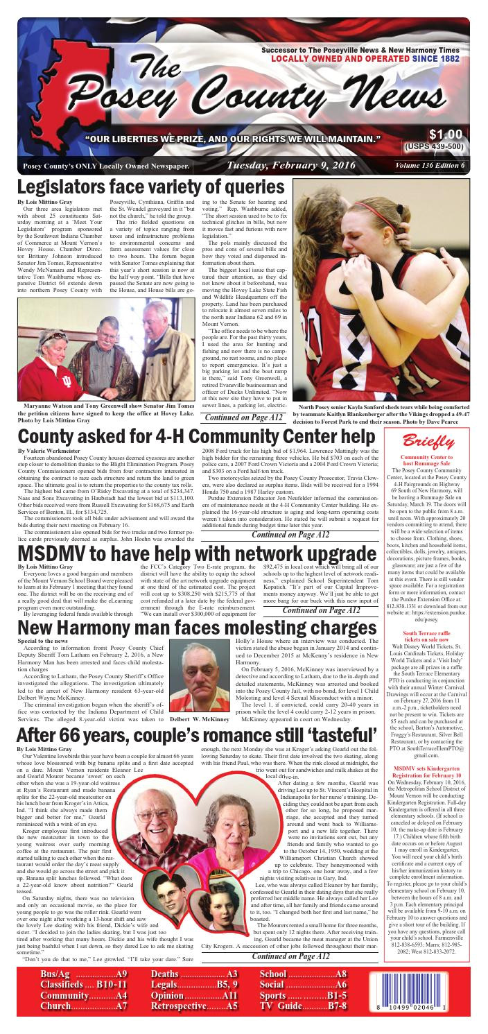 february 9 2016 the posey county news by the posey county news issuu