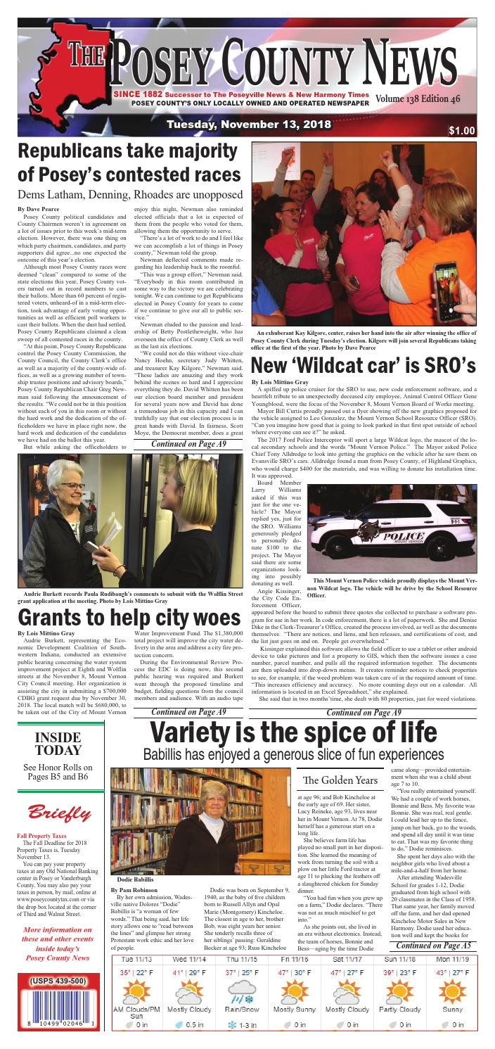 november 13 2018 the posey county news by the posey county news issuu