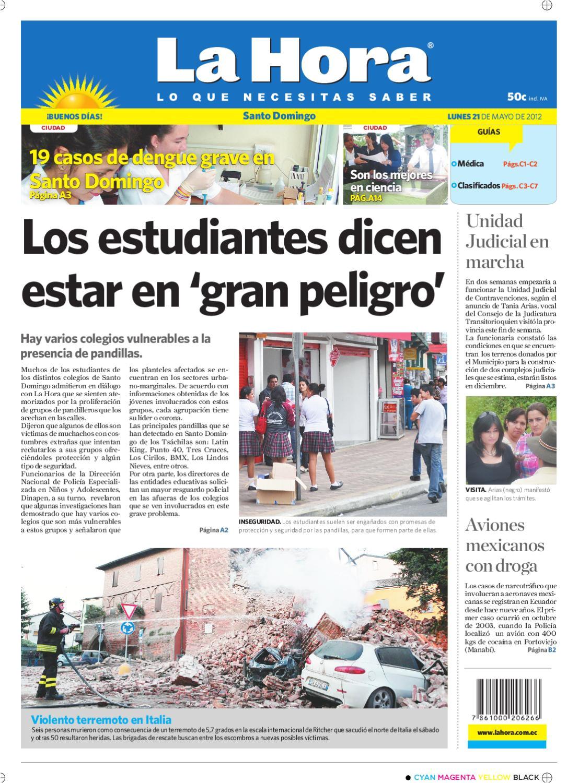 edicia n impresa santo domingo del 21 de mayo de 2012 by diario la hora ecuador issuu