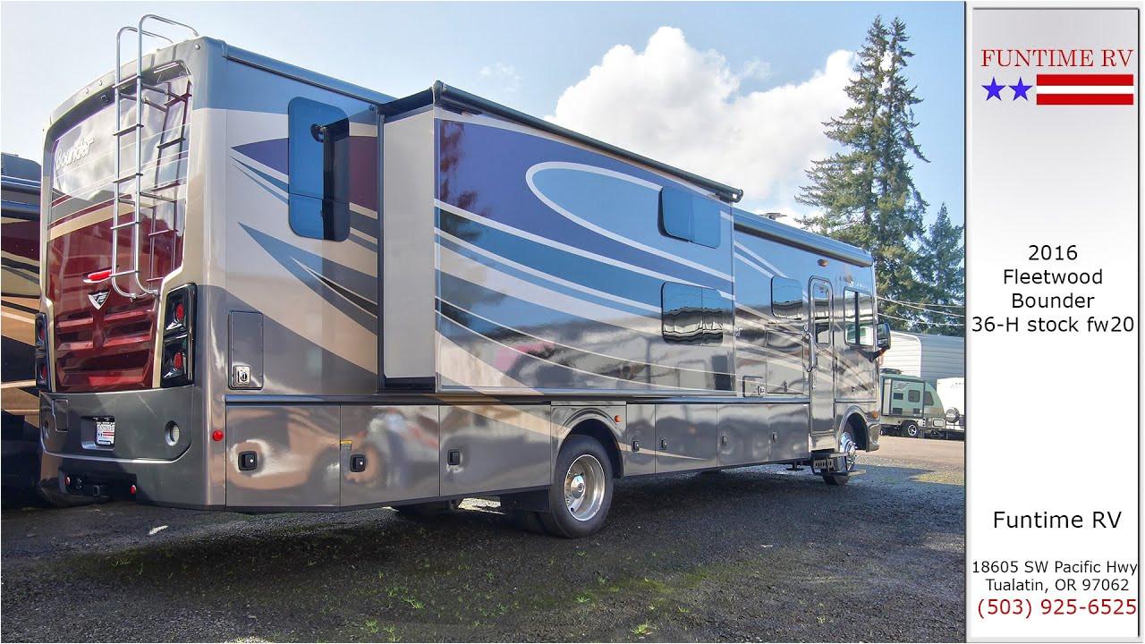 2016 fleetwood bounder 36h motorhome for sale near portland oregon