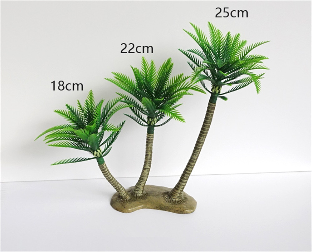 Large Fake Palm Trees for Sale 25cm Green Artificial Coconut Palm Tree Micro Plastic Landscape