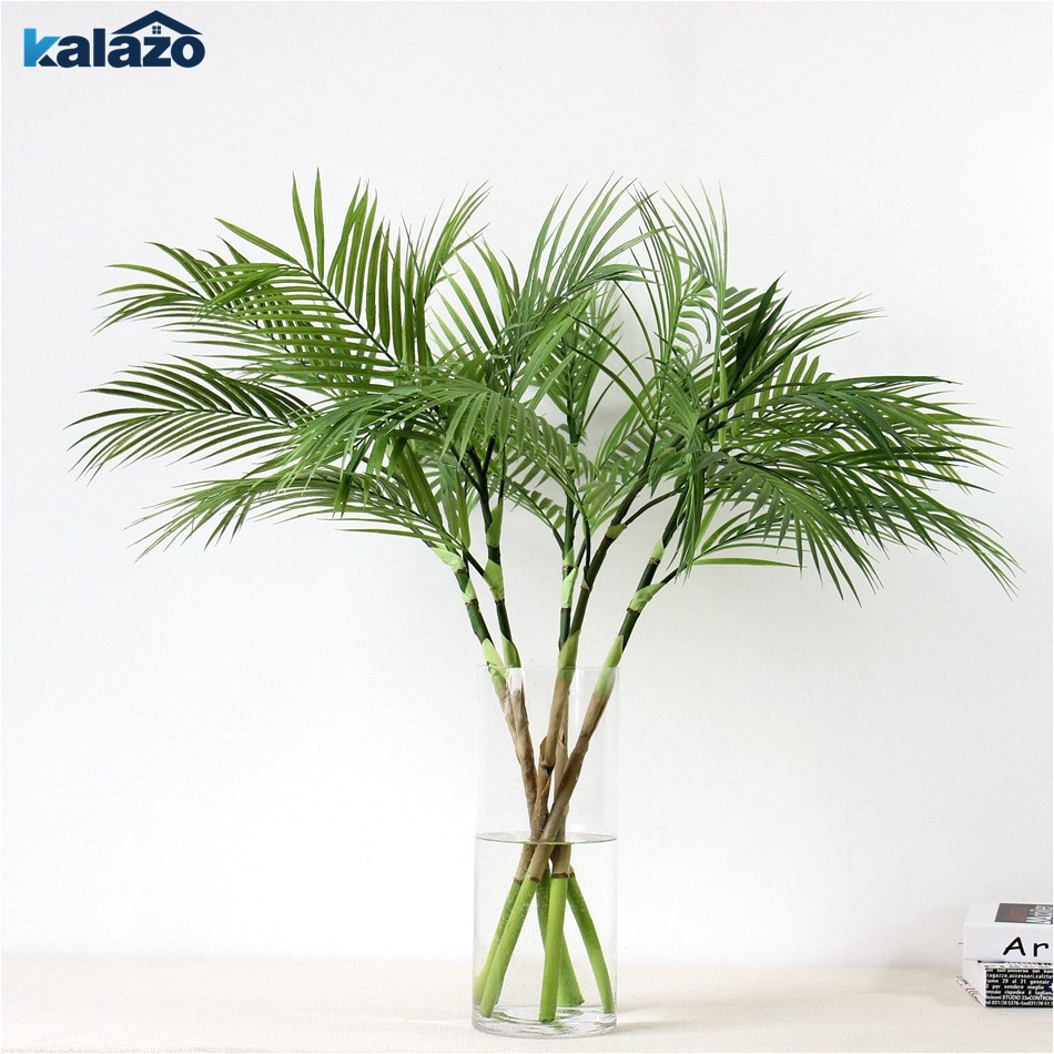 90 cm green artificial palm leaf plastic plants garden home decorations scutellaria tropical tree fake plants
