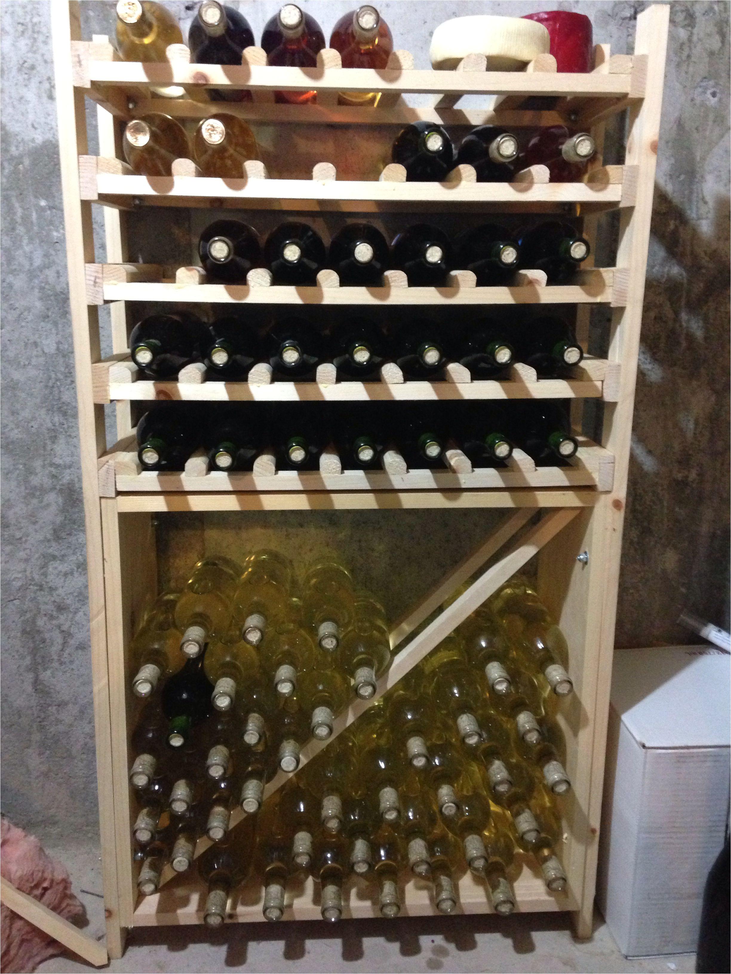 my homemade wine rack