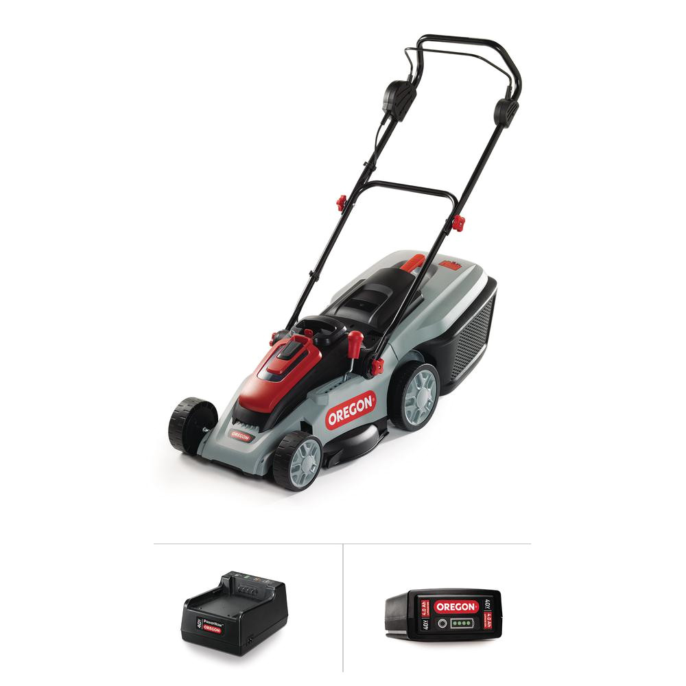 40 volt brushless lithium ion cordless battery walk behind push lawn