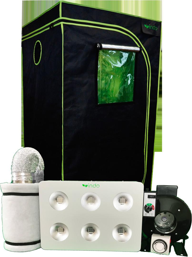 indo complete grow kit 48 x48 x80 1680d grow tent 1200w cob