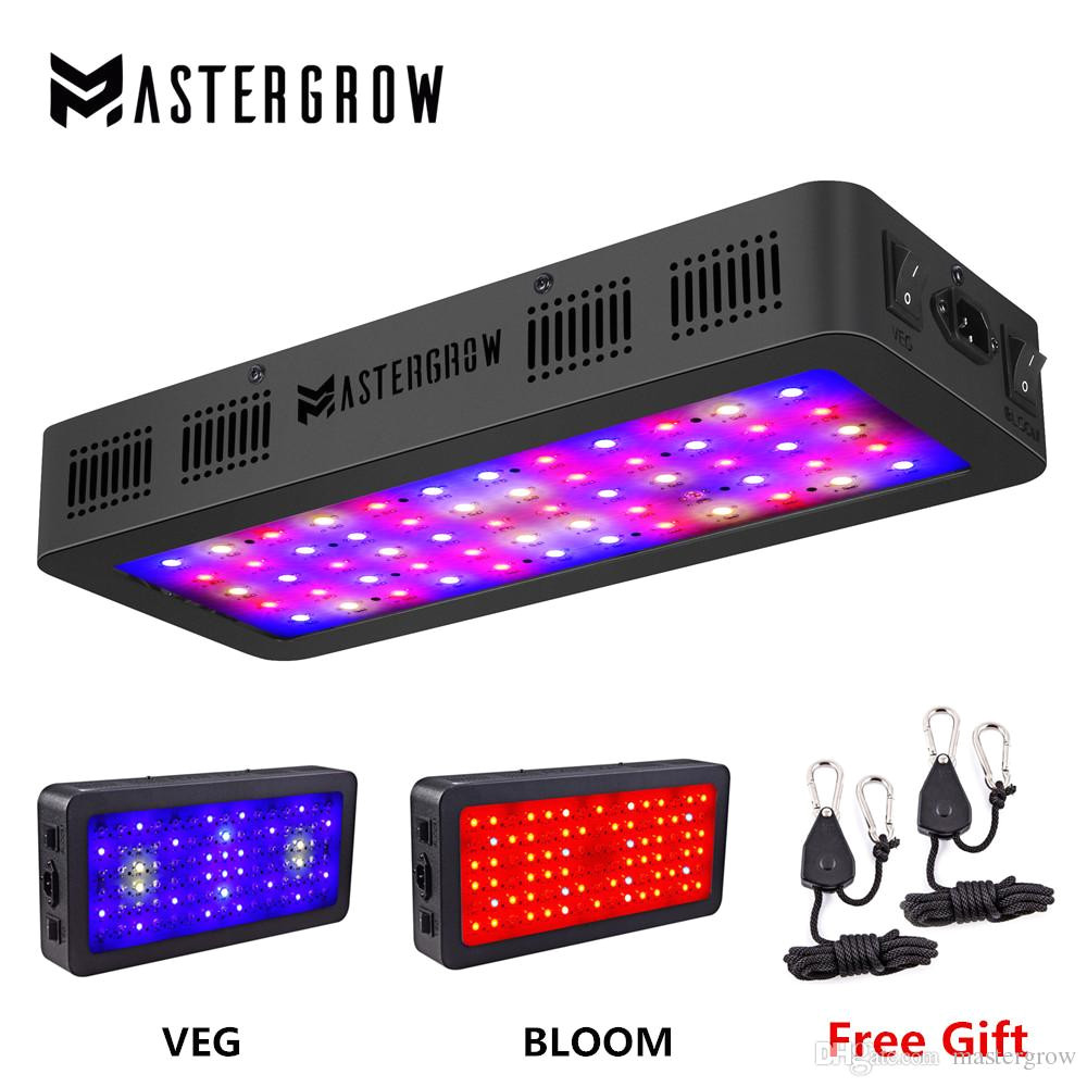 mastergrow 600w 900w full spectrum double switch led grow light with veg bloom modes for indoor greenhouse grow tent plants grow led light 600 watt grow